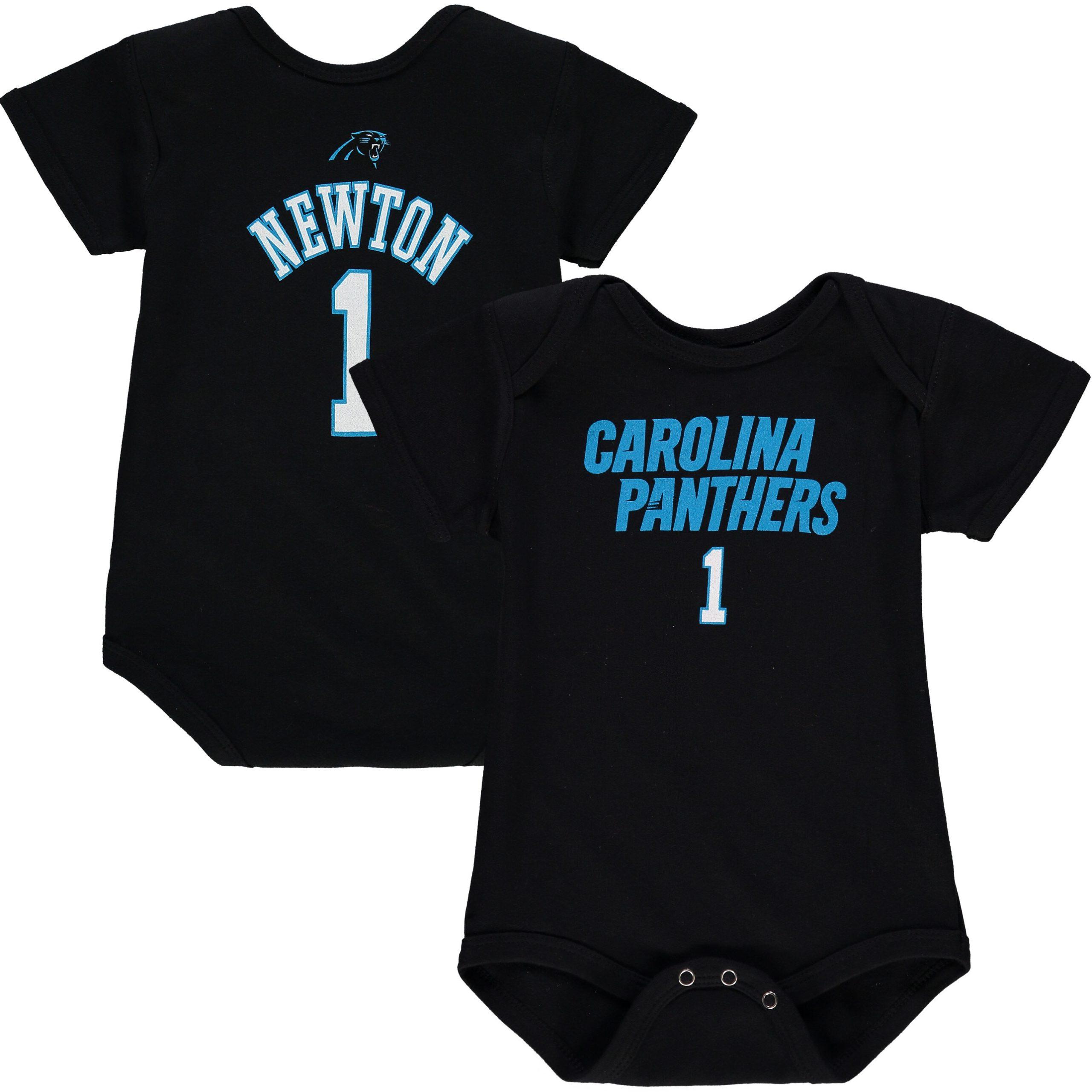 Cam Newton Carolina Panthers Infant Mainliner Name & Number Bodysuit - Black