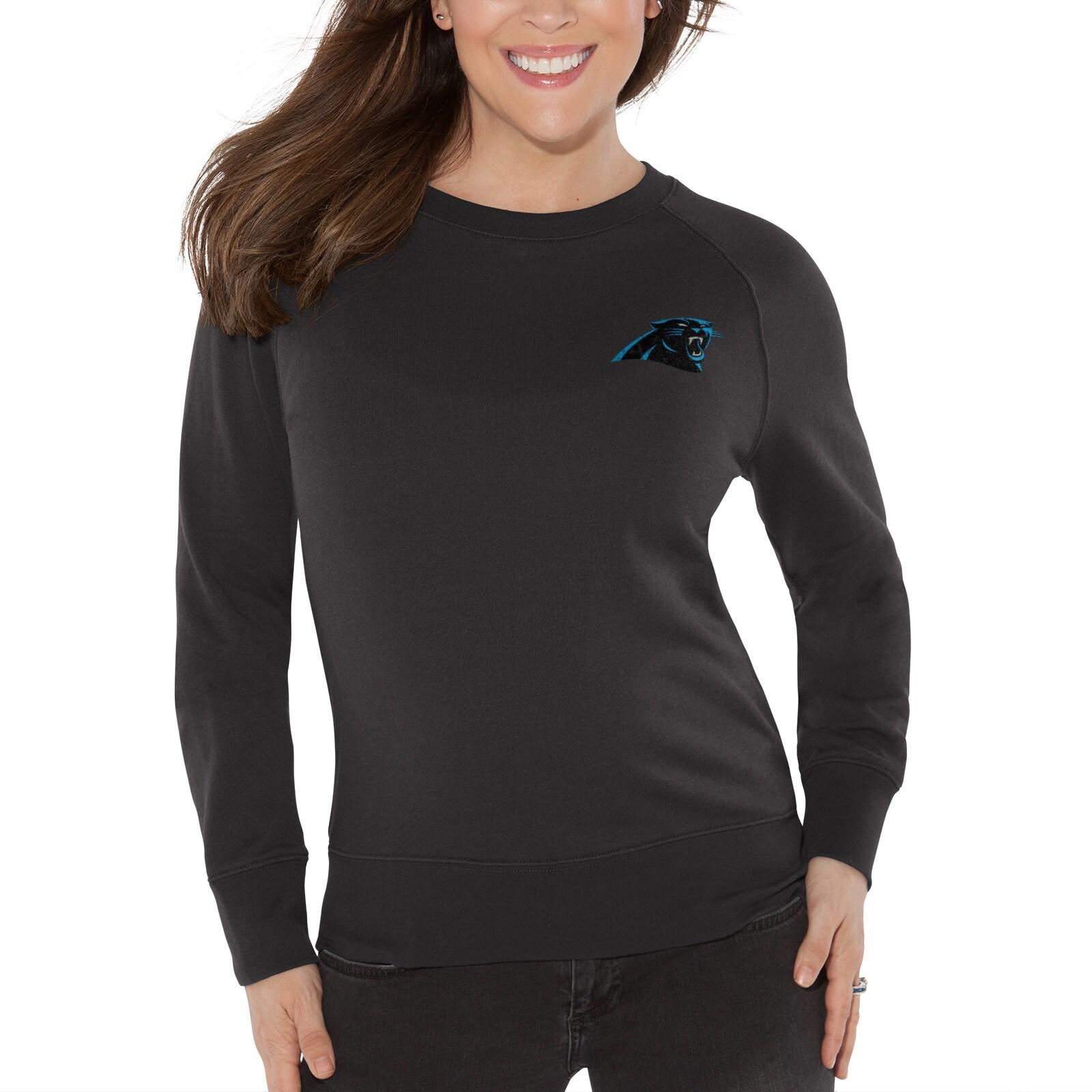 Carolina Panthers Touch by Alyssa Milano Women's Star Player Sweatshirt - Black