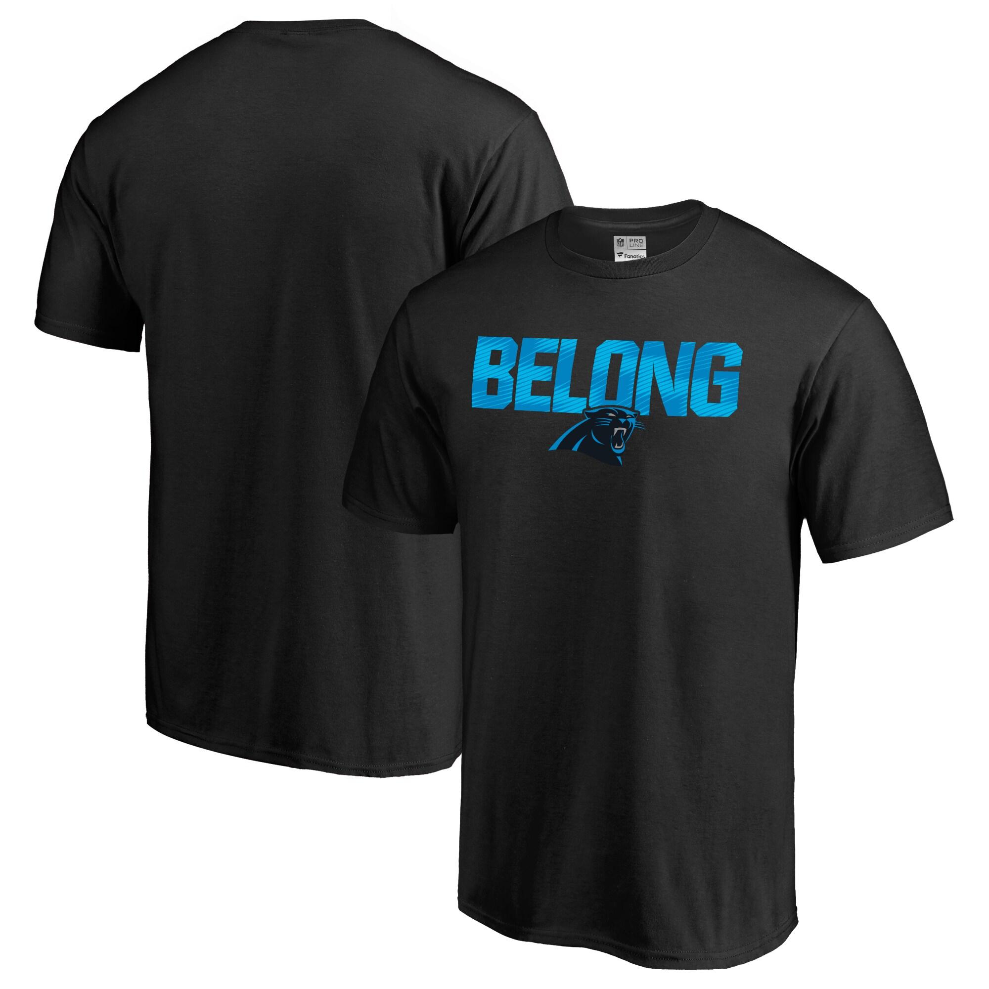 Carolina Panthers NFL Pro Line Big & Tall Mantra T-Shirt - Black