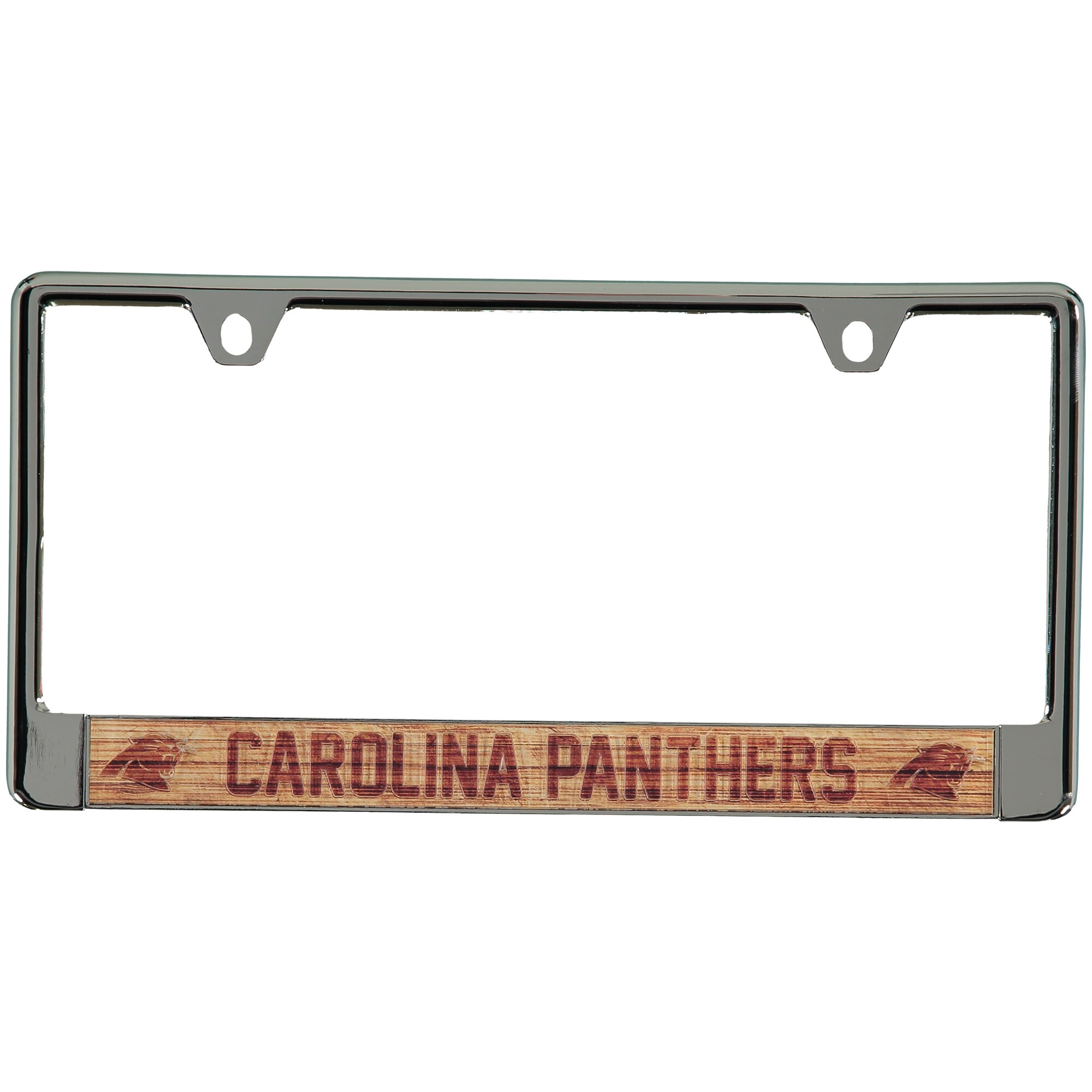 Carolina Panthers Wood Design Acrylic License Plate Frame