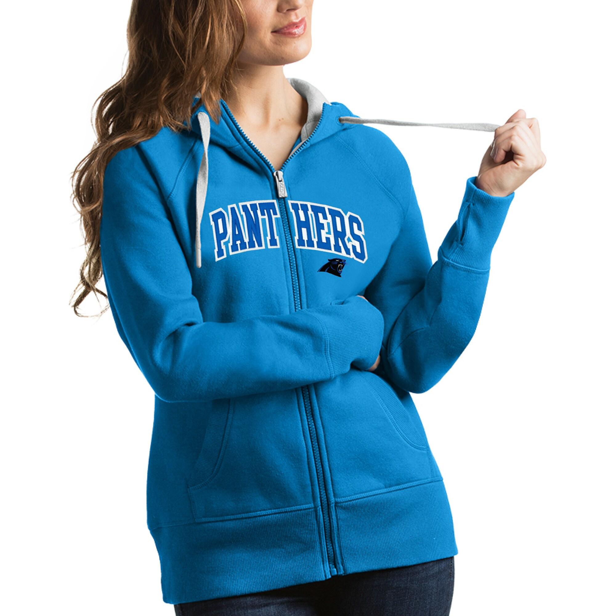 Carolina Panthers Antigua Women's Victory Full-Zip Hoodie - Blue