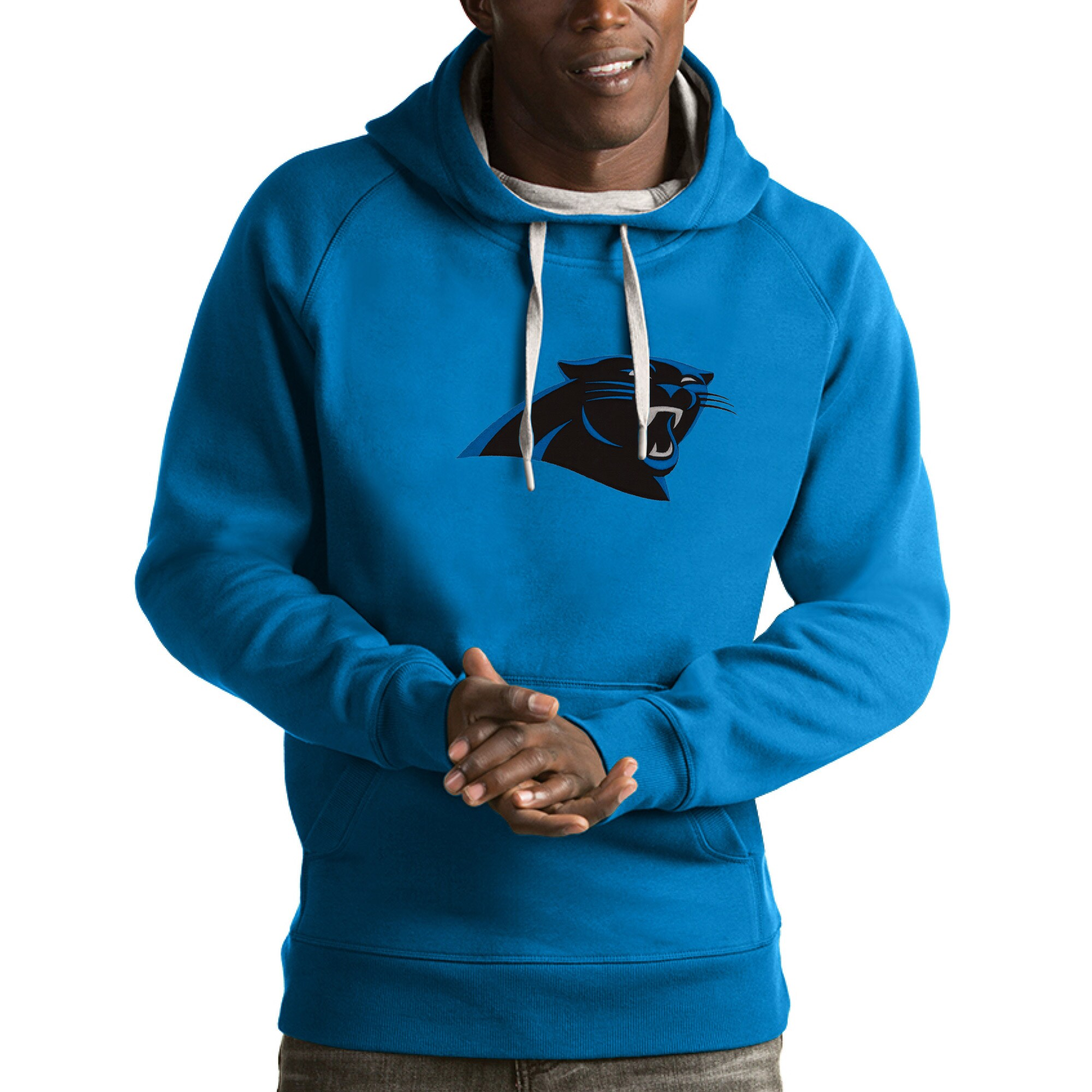 Carolina Panthers Antigua Victory Pullover Hoodie - Blue