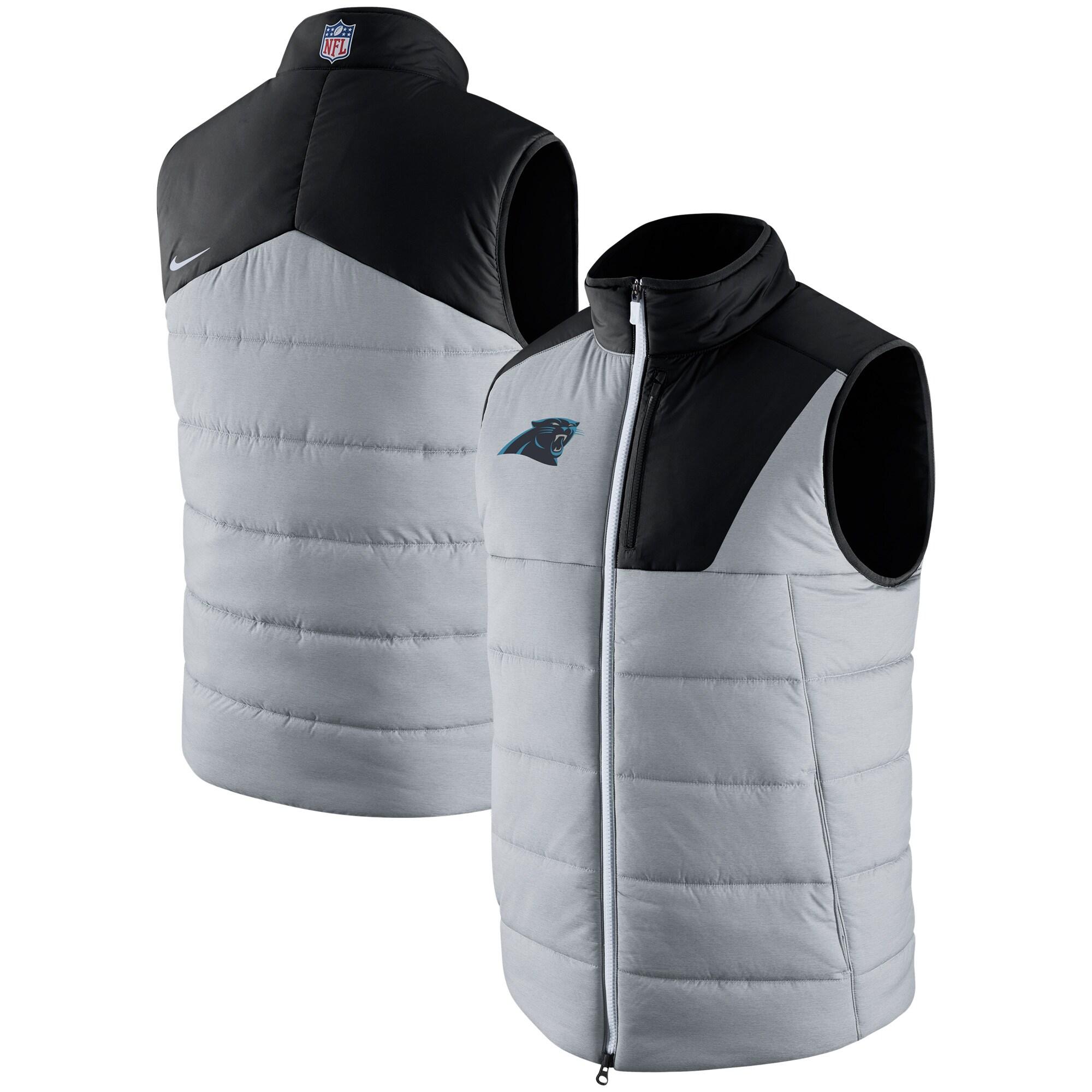 Carolina Panthers Nike Champ Drive Vest - Heathered Gray