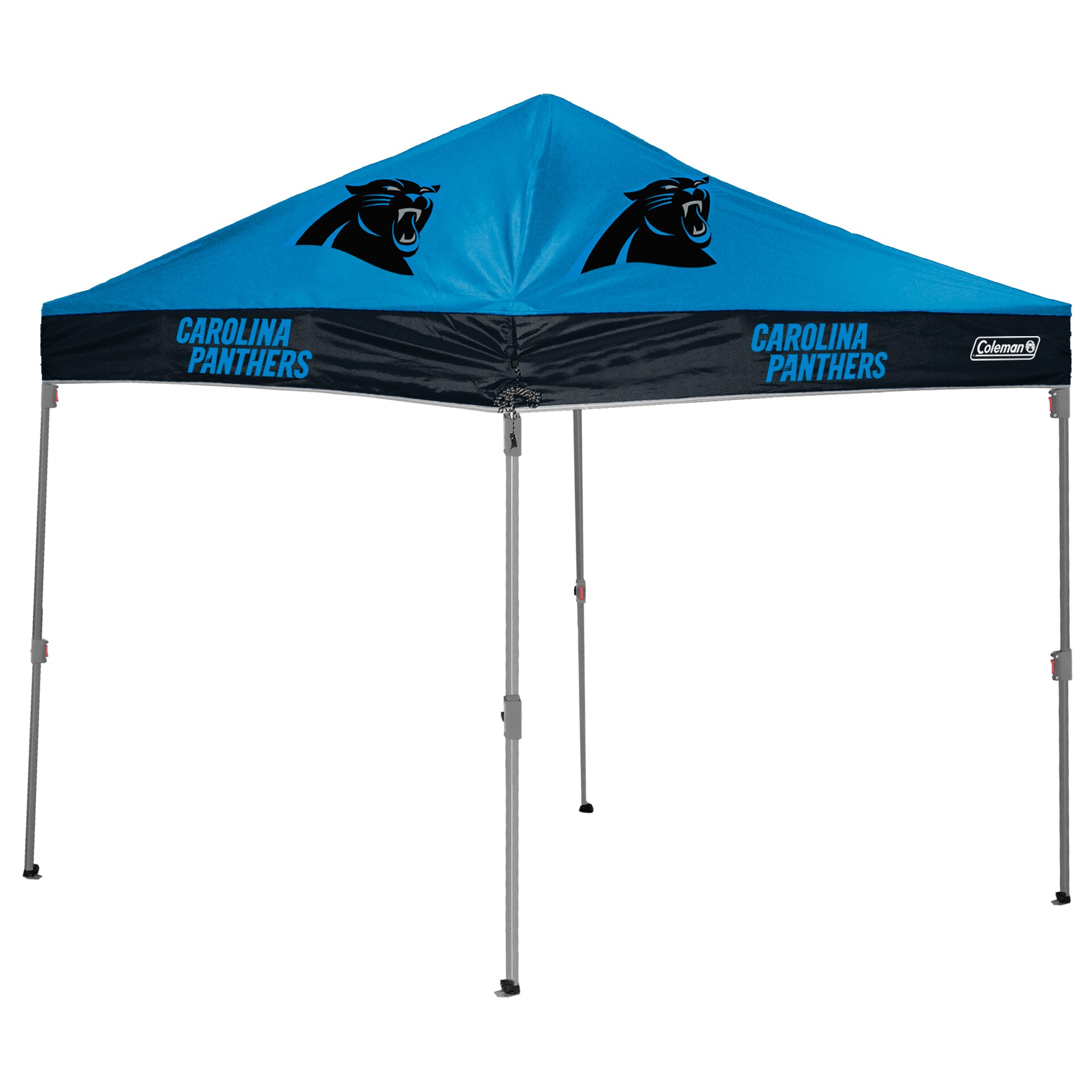 Carolina Panthers Coleman 10' x 10' 2-Tone Straight Leg Canopy Tent