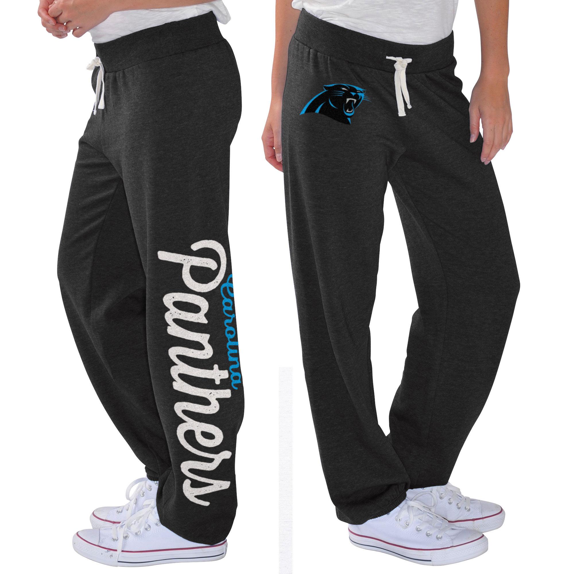 Carolina Panthers G-III 4Her by Carl Banks Women's Scrimmage Fleece Pants - Black