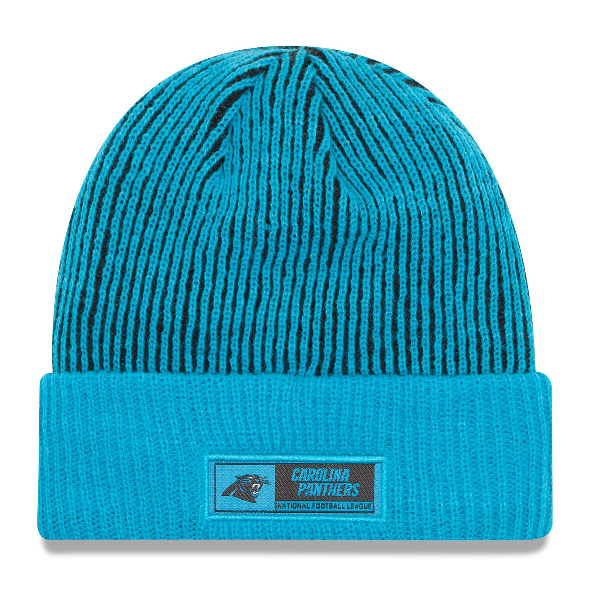 Carolina Panthers New Era Sideline Official Tech Knit Hat - Blue