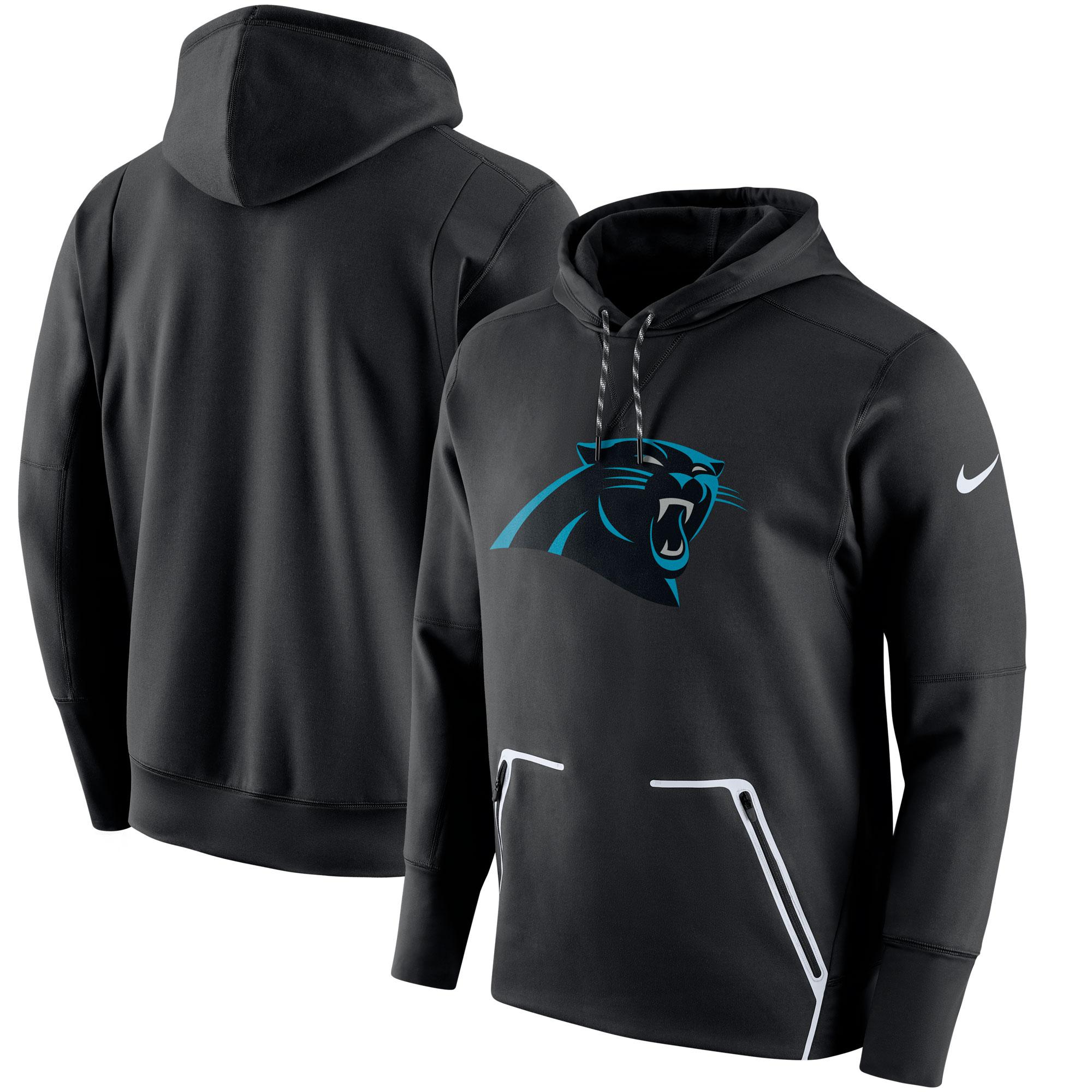 Carolina Panthers Nike Champ Drive Vapor Speed Performance Pullover Hoodie - Black