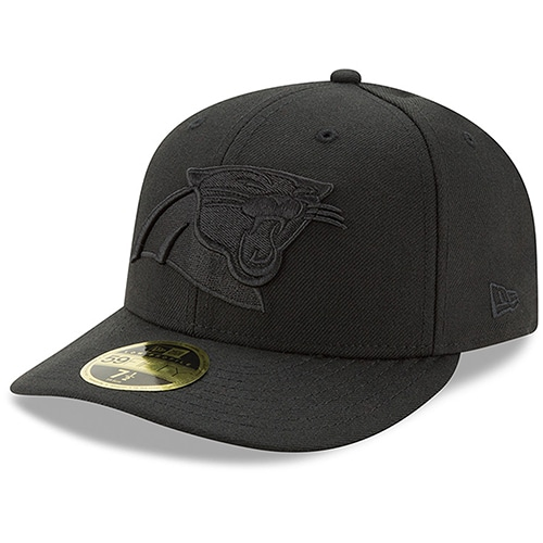 Carolina Panthers New Era Black On Black Low Profile 59FIFTY Fitted Hat