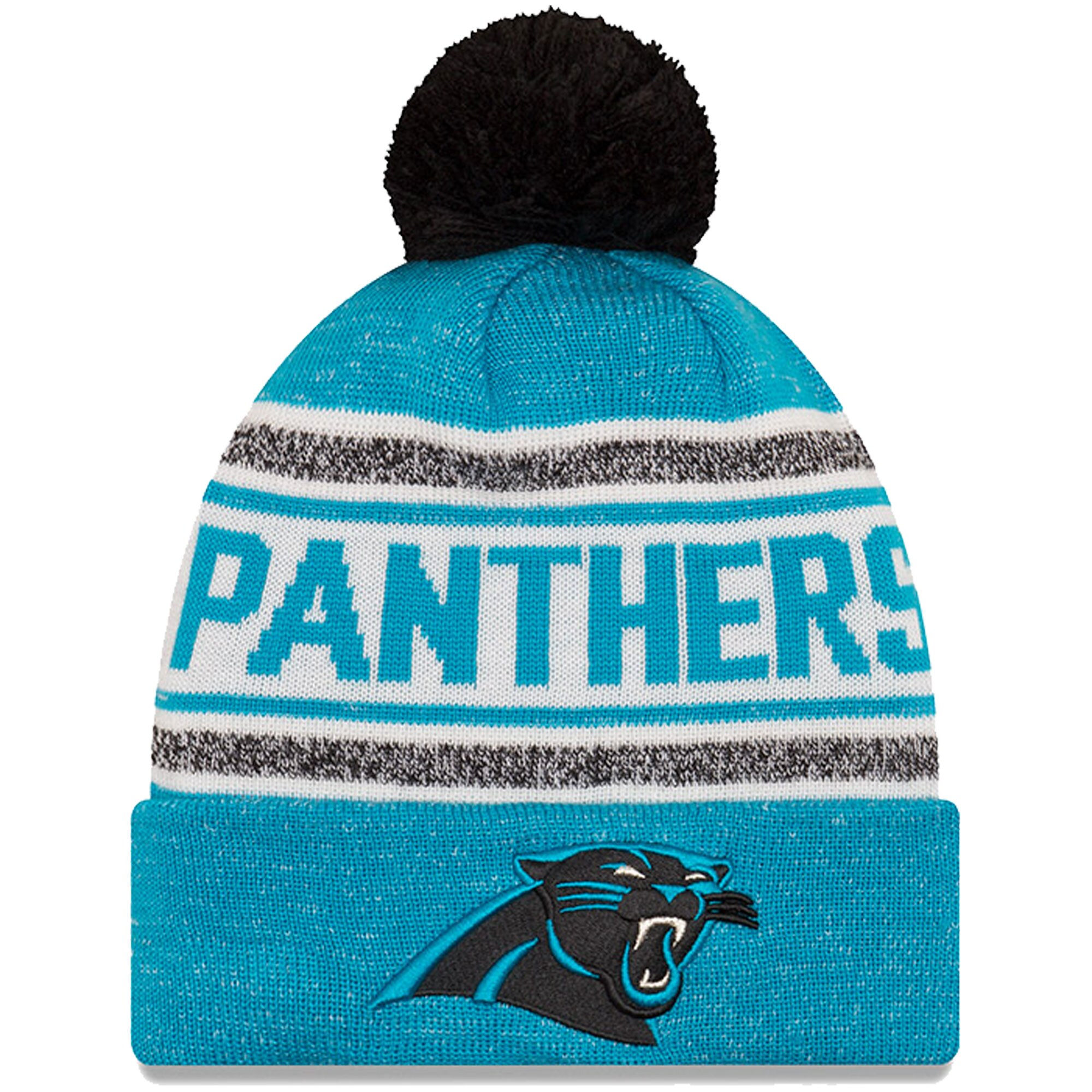 Carolina Panthers New Era Toasty Cover Cuffed Knit Hat with Pom - Blue