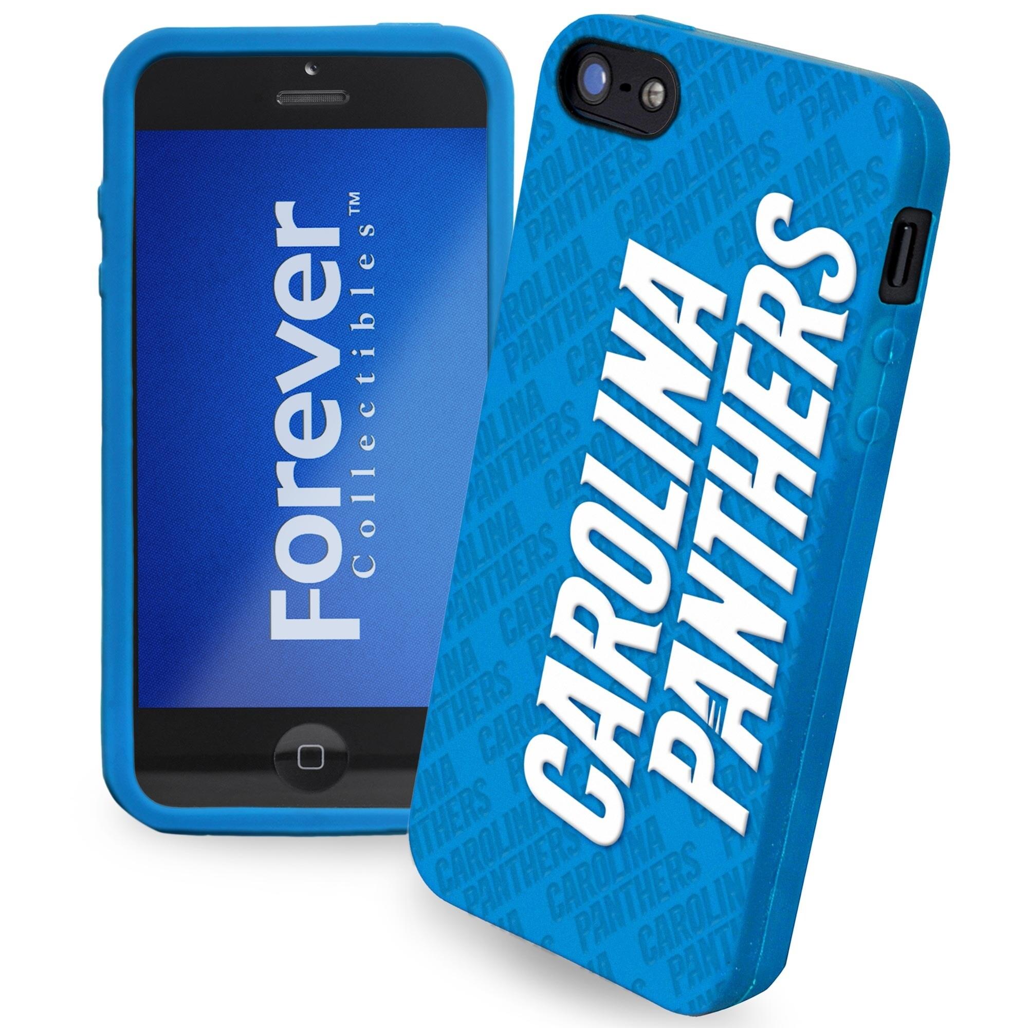 Carolina Panthers Silicone iPhone 5 Cover - Carolina Blue
