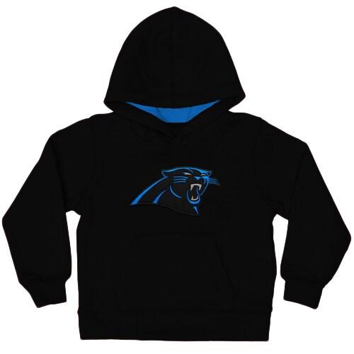 Carolina Panthers Toddler Fan Gear Primary Logo Pullover Hoodie - Black