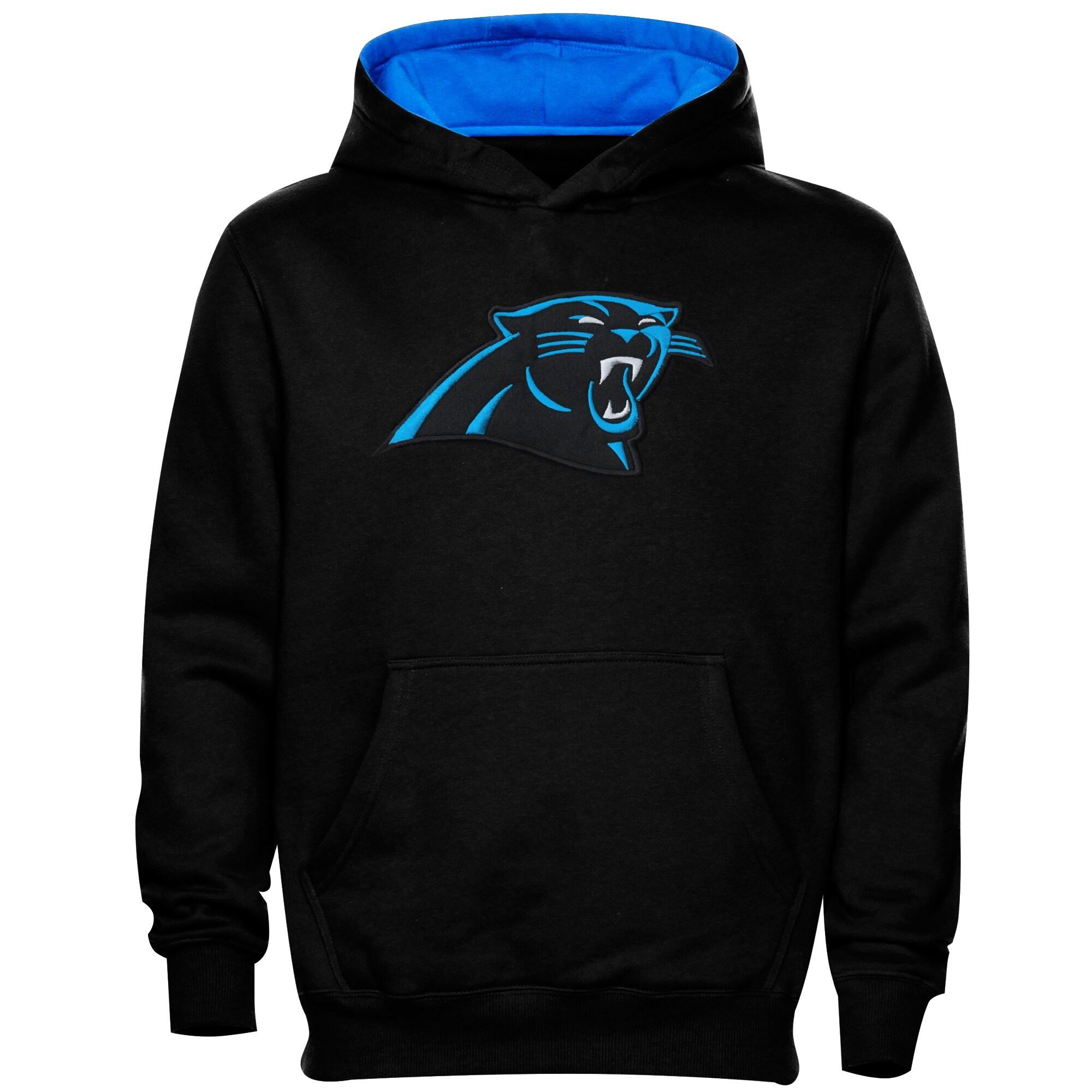 Carolina Panthers Preschool Fan Gear Primary Logo Pullover Hoodie - Black