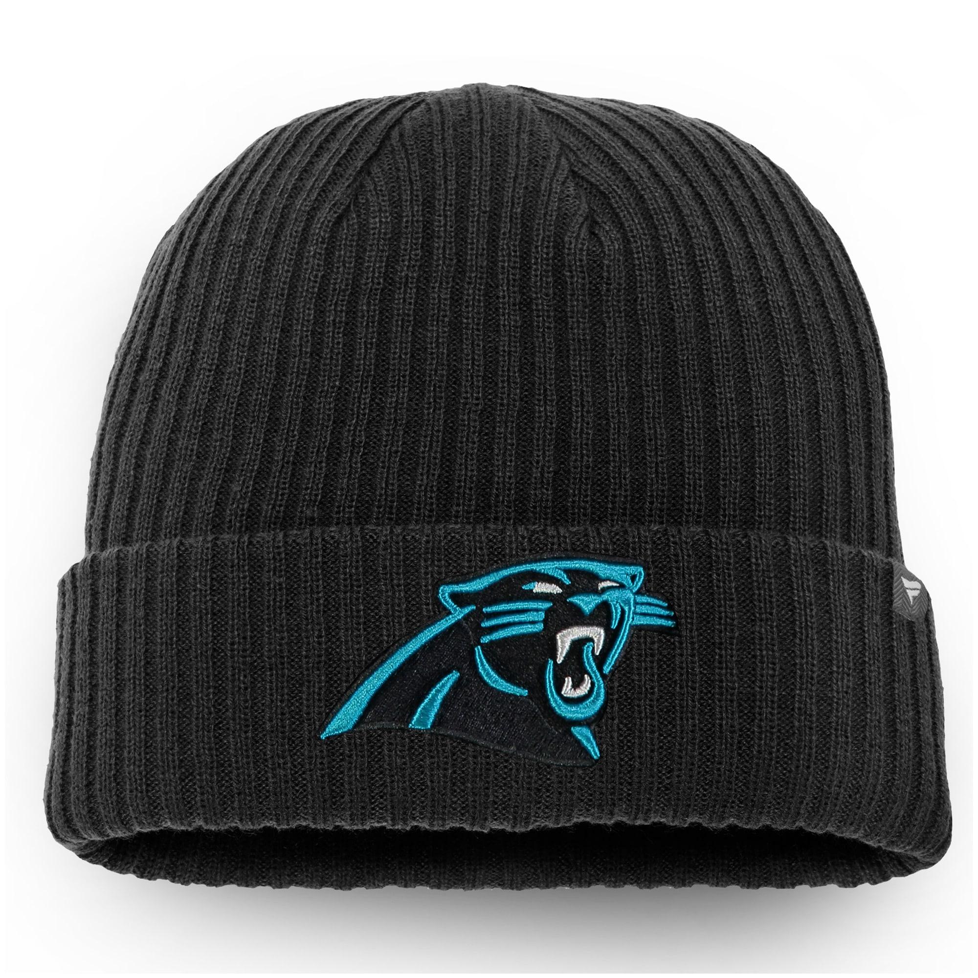 Carolina Panthers NFL Pro Line by Fanatics Branded Core Elevated II Cuffed Knit Hat - Black
