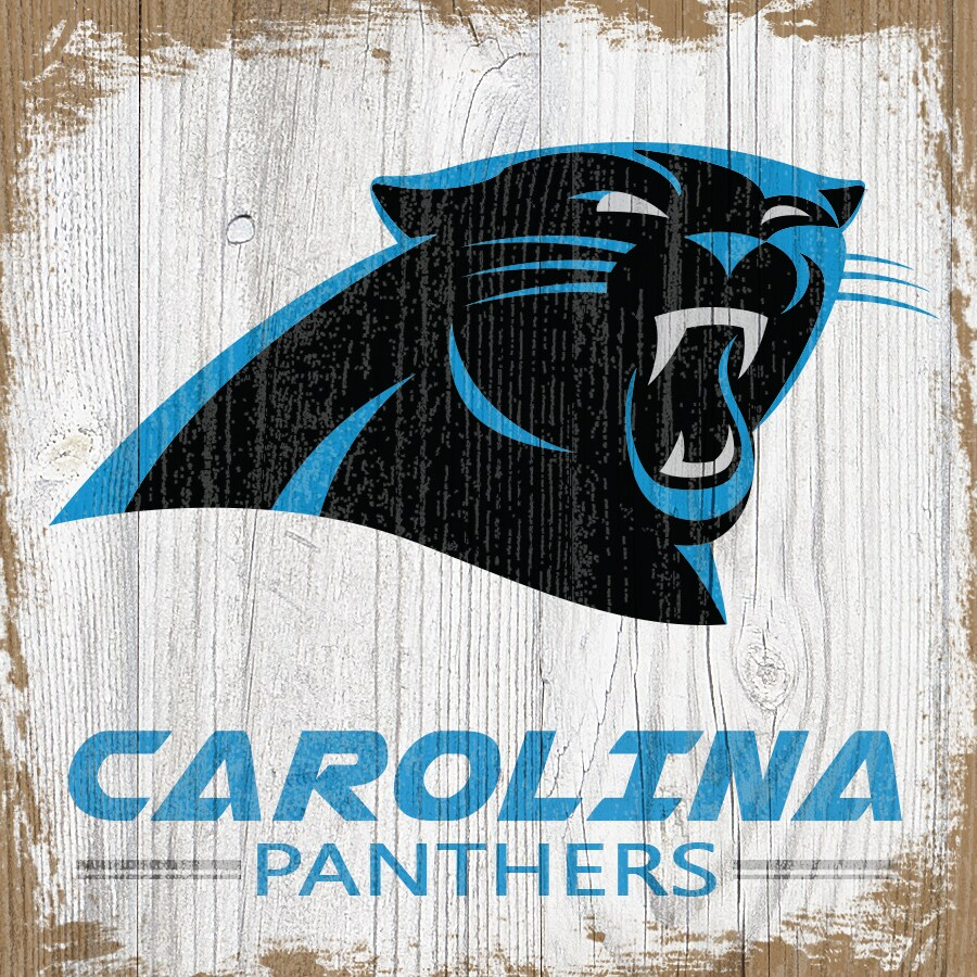 Carolina Panthers 6'' x 6'' Team Logo Block