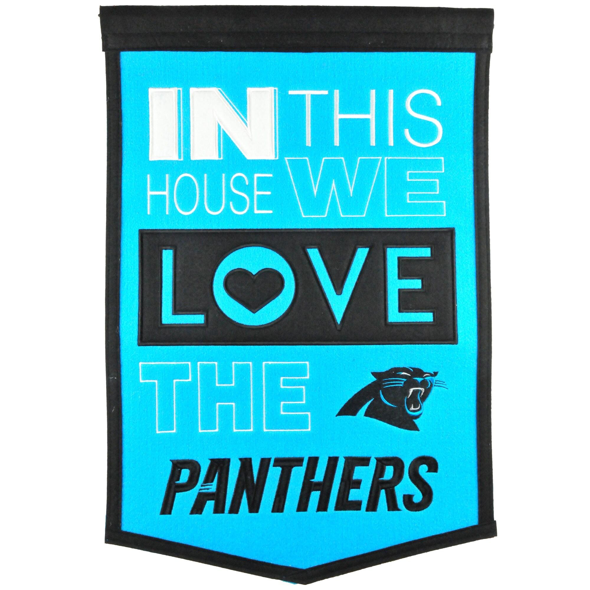 Carolina Panthers 15'' x 24'' Home Banner