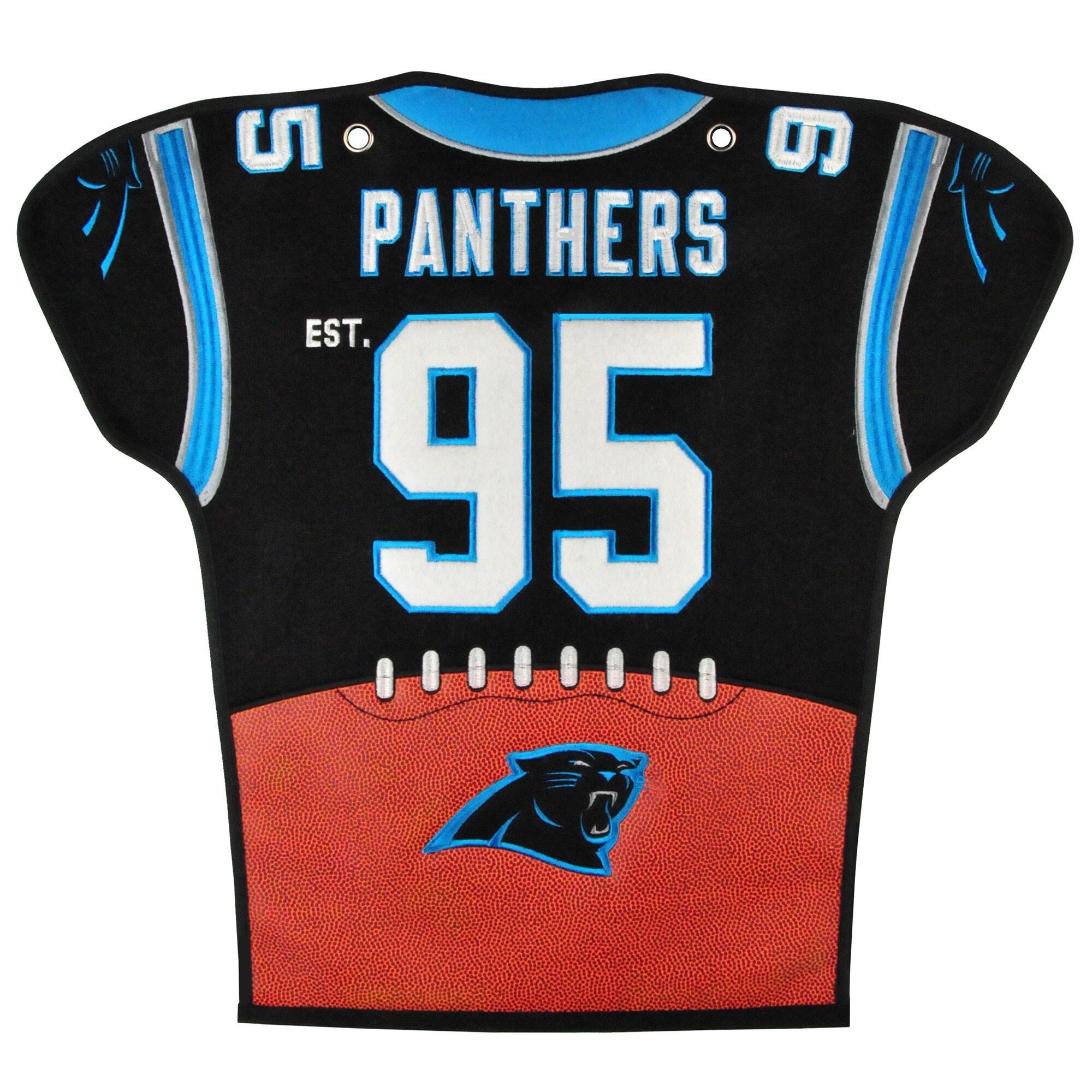 Carolina Panthers 20'' x 18'' Jersey Traditions Banner