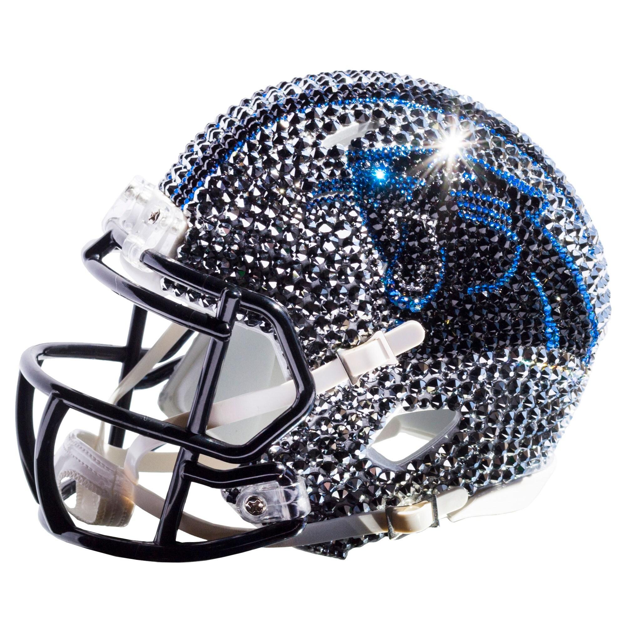 Carolina Panthers Swarovski Crystal Mini Football Helmet