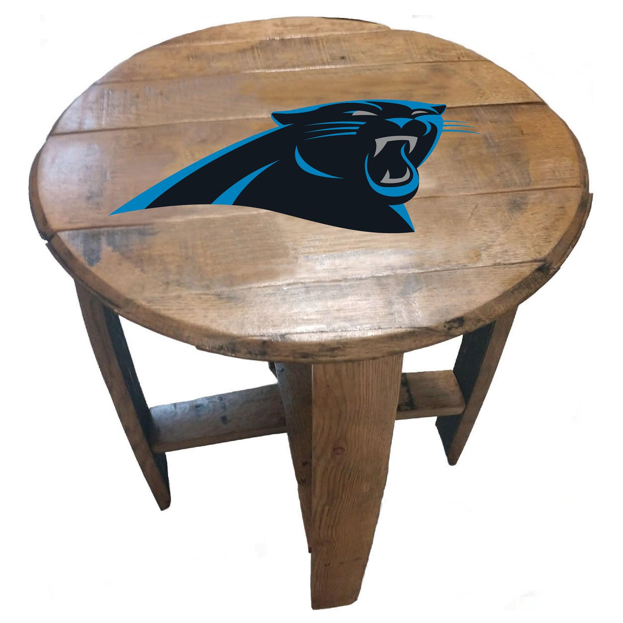 Carolina Panthers Imperial Oak Barrel Table