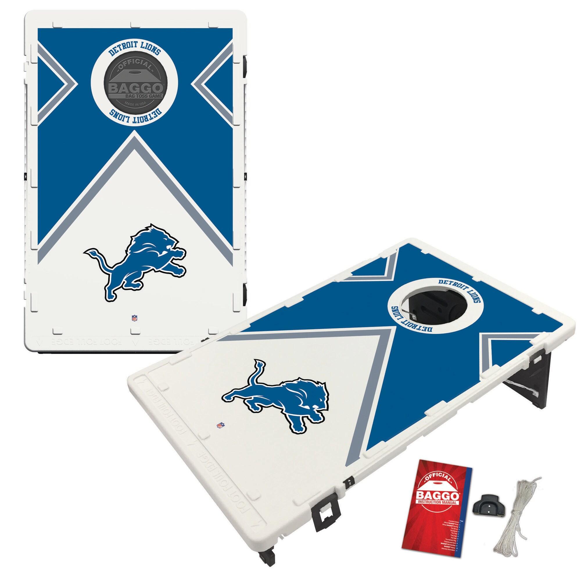 Detroit Lions 2' x 3' BAGGO Vintage Cornhole Board Tailgate Toss Set