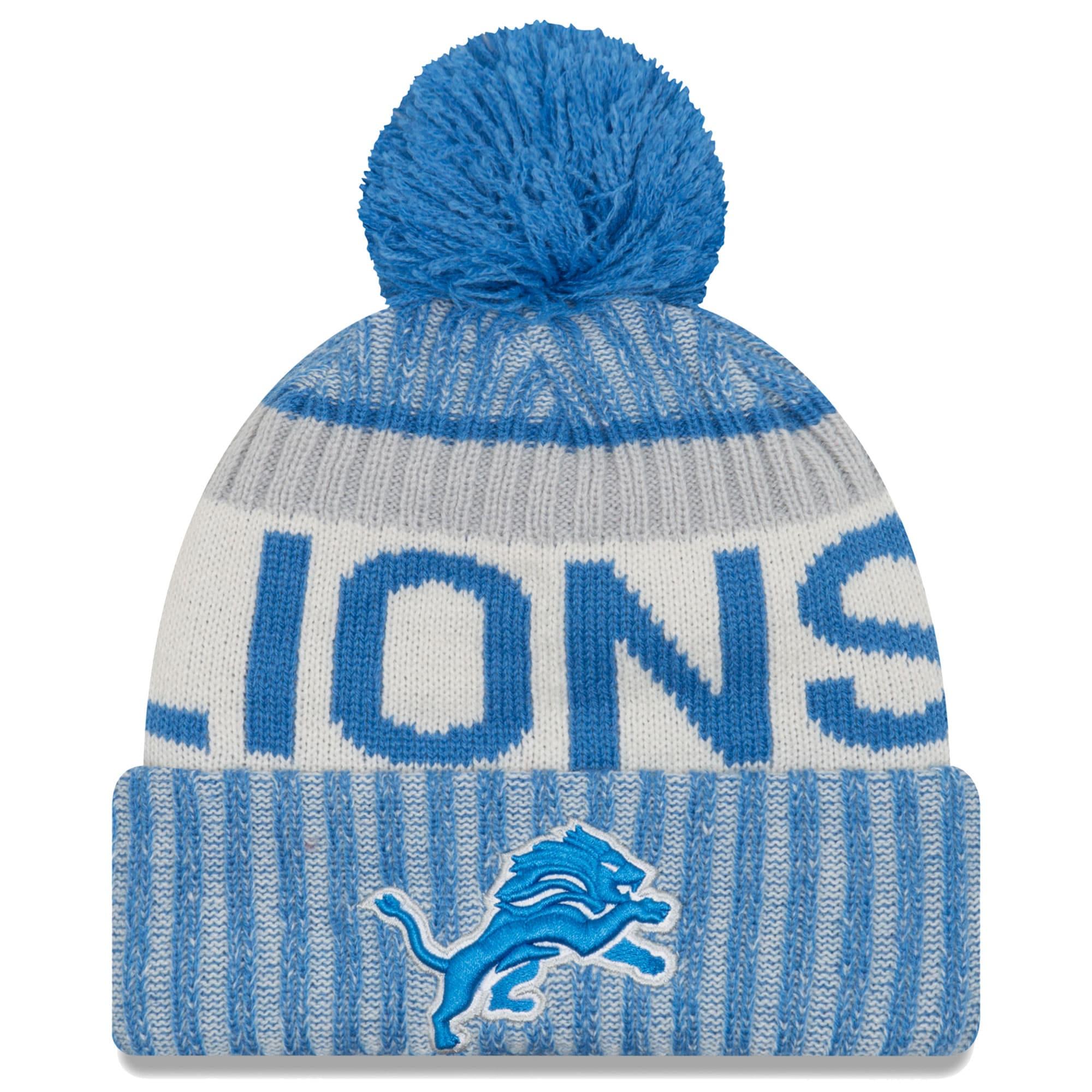 Detroit Lions New Era 2017 Sideline Official Sport Knit Hat - Blue