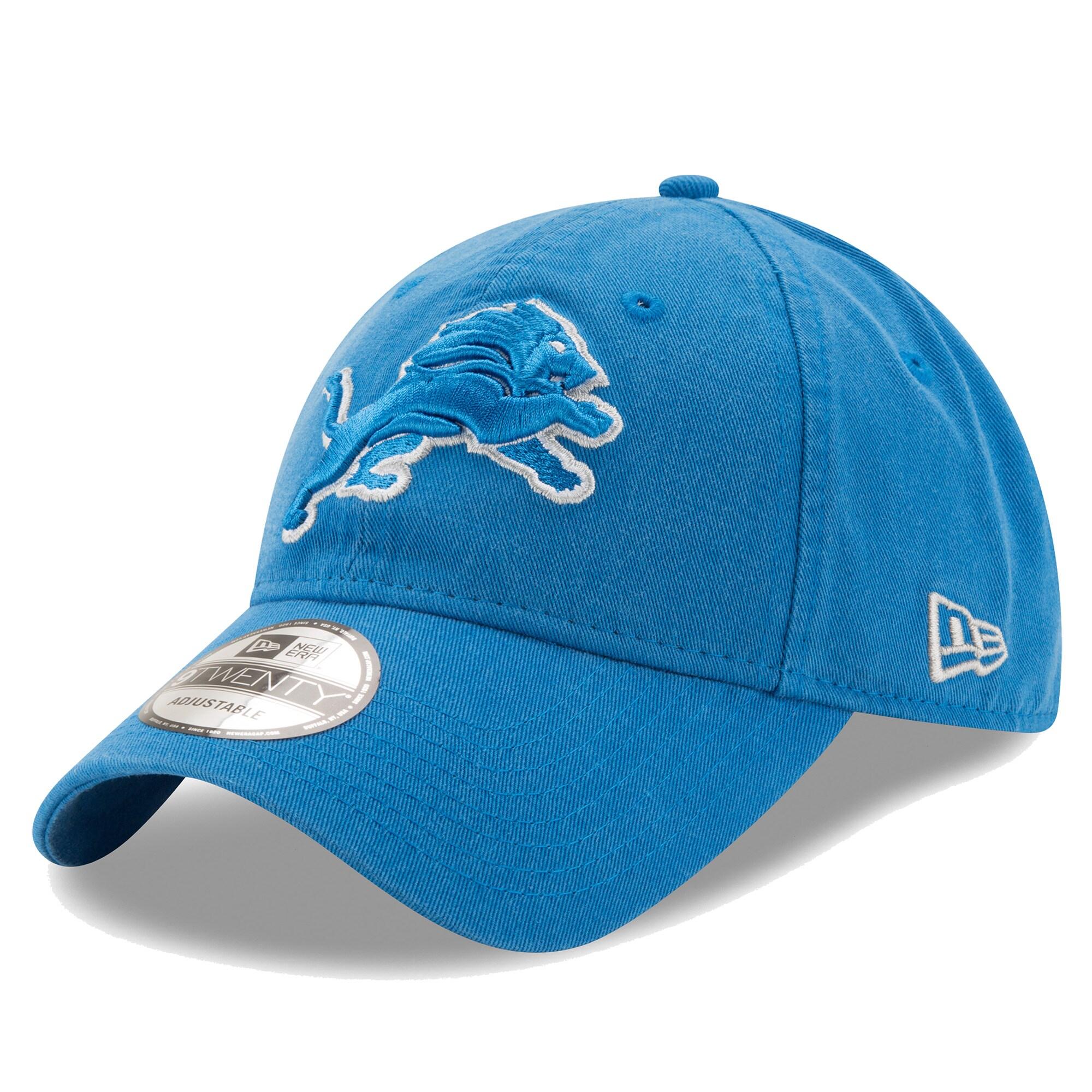 Detroit Lions New Era Core Classic 9TWENTY Adjustable Hat - Blue