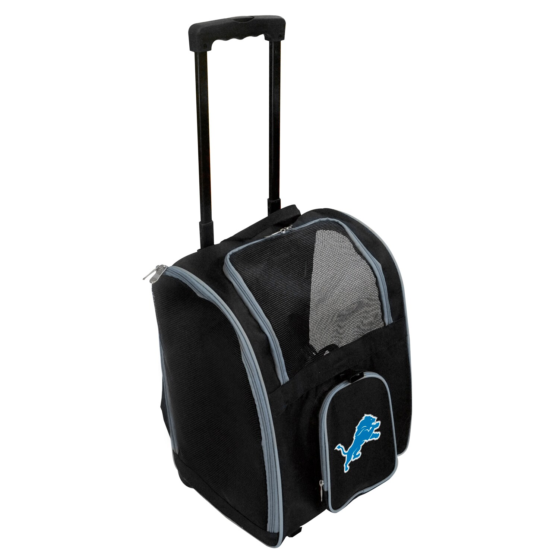 Detroit Lions 2-Wheeled Roller Pet Carrier - Black