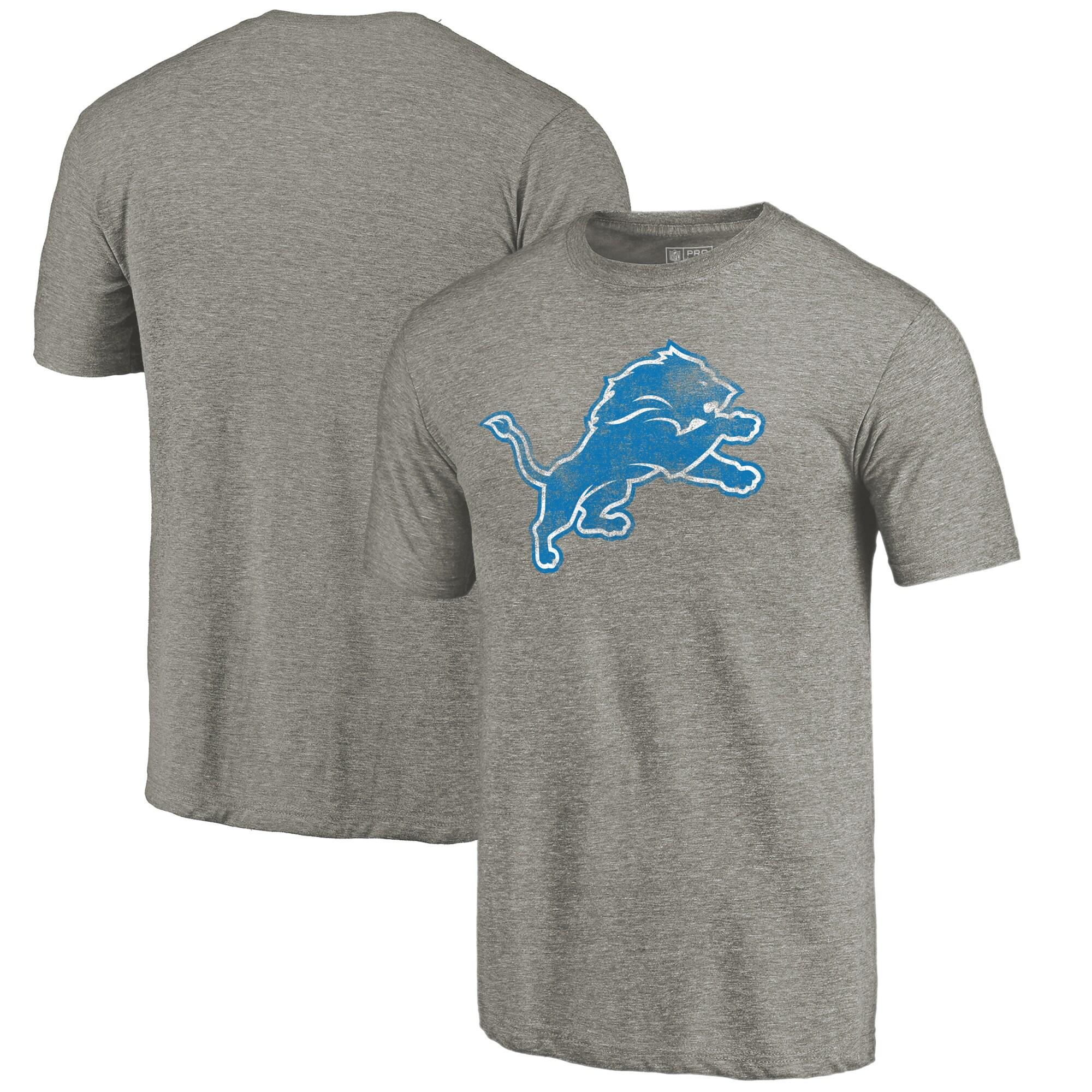 Detroit Lions NFL Pro Line Distressed Team T-Shirt - Ash