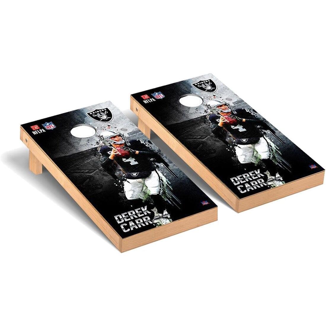 Derek Carr Las Vegas Raiders 2' x 4' NFLPA Player Cornhole Board Tailgate Toss Set