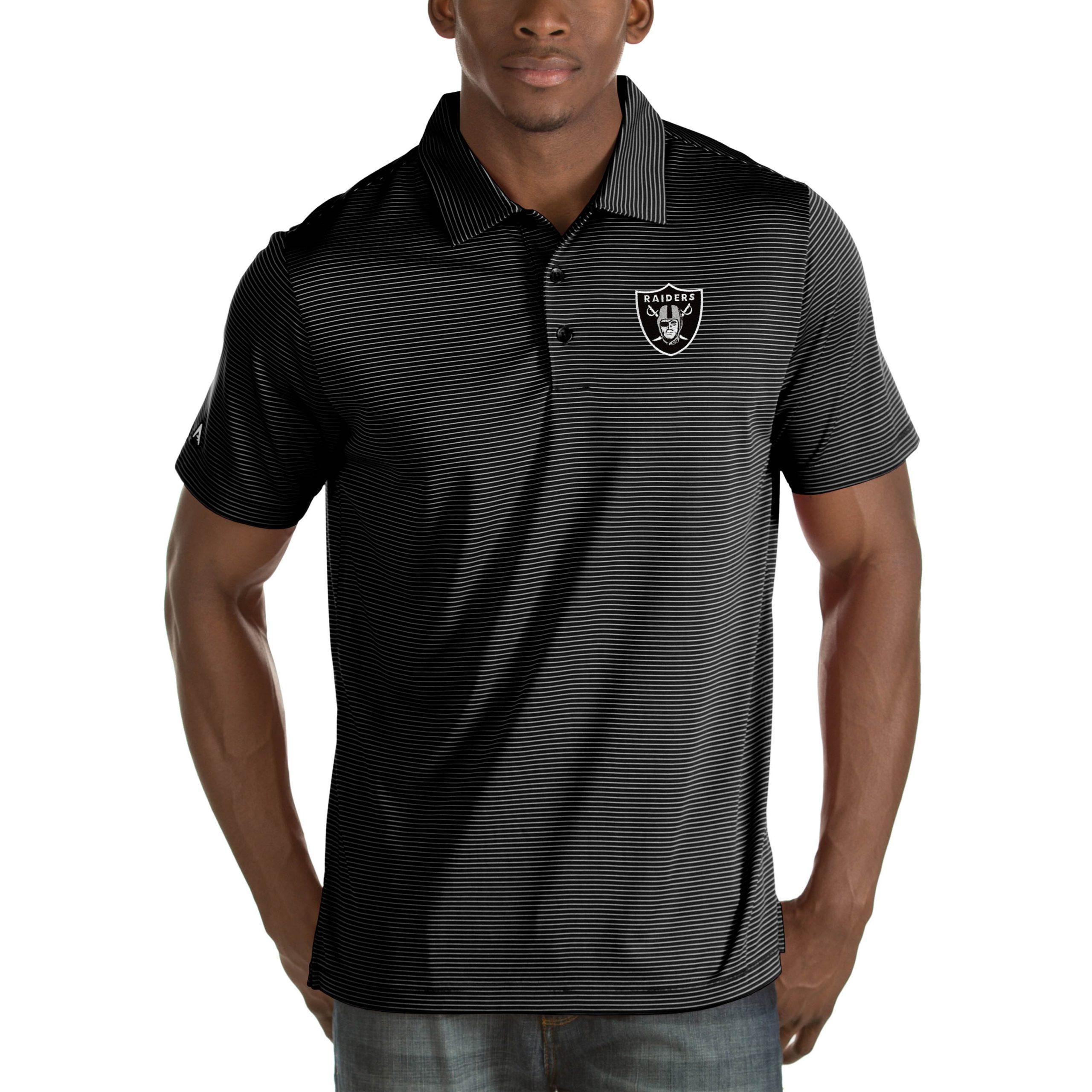 Las Vegas Raiders Antigua Quest Big & Tall Polo - Black