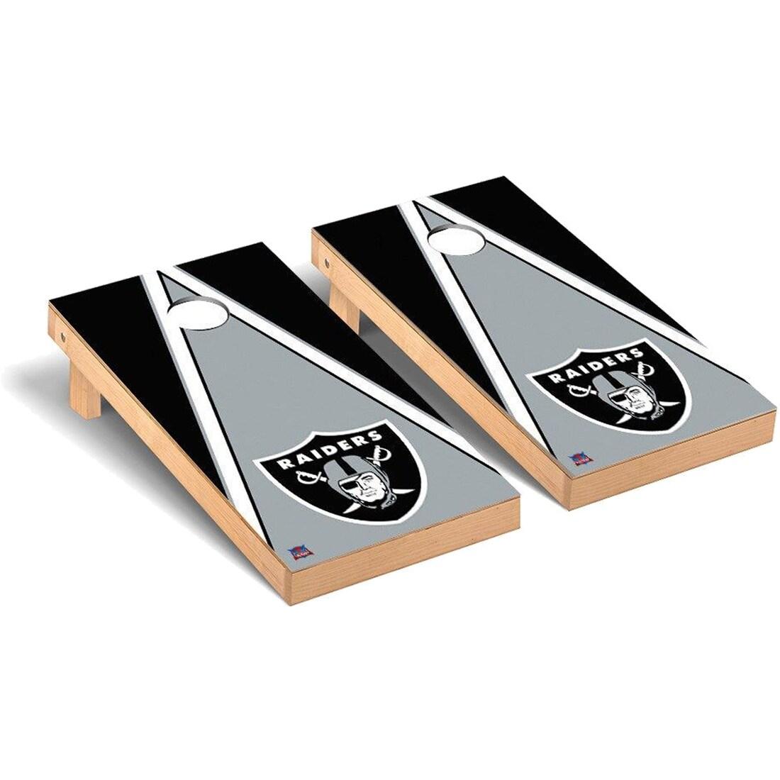 Las Vegas Raiders 2' x 4' Triangle Cornhole Board Tailgate Toss Set