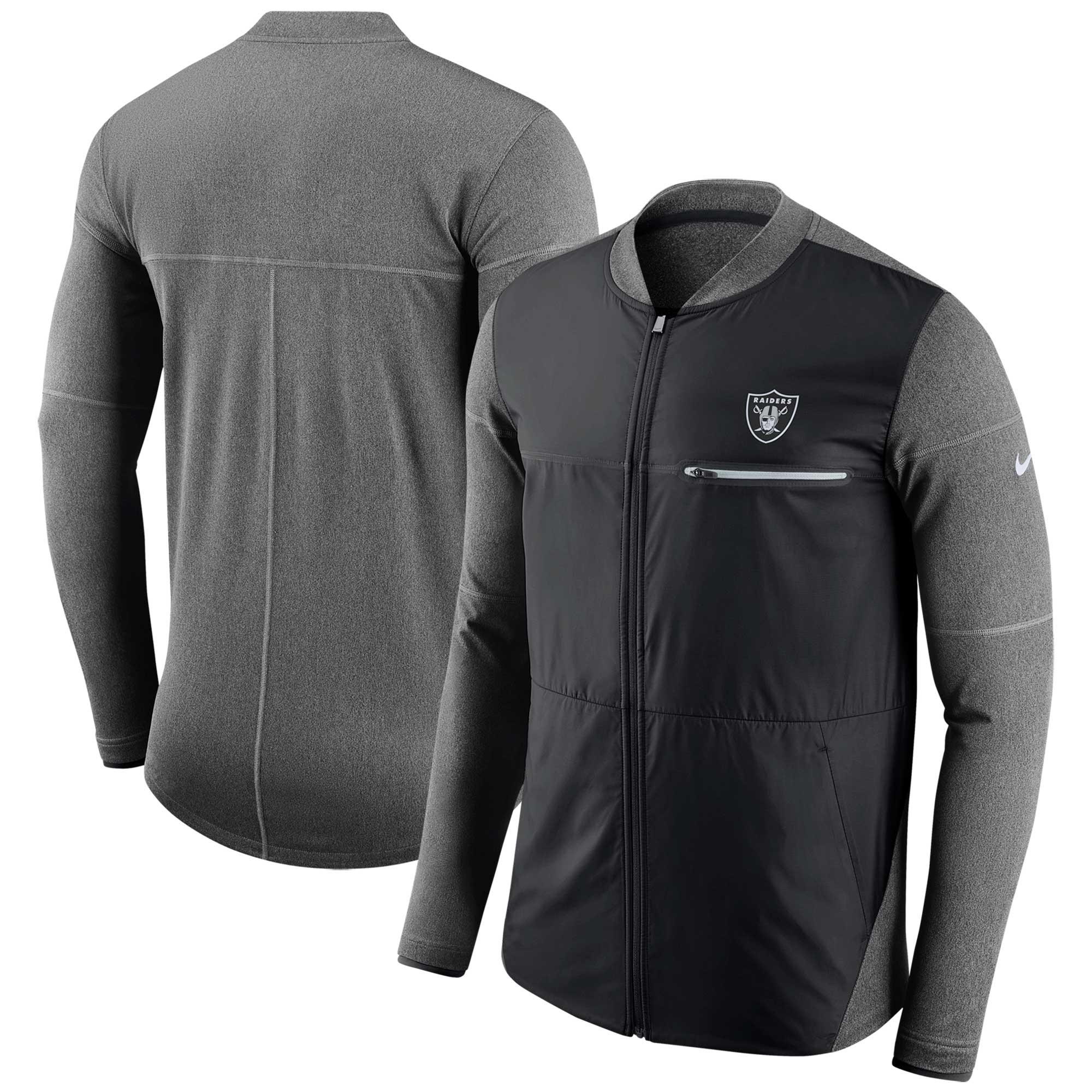 Las Vegas Raiders Nike Sideline Shield Hybrid Full-Zip Jacket - Black