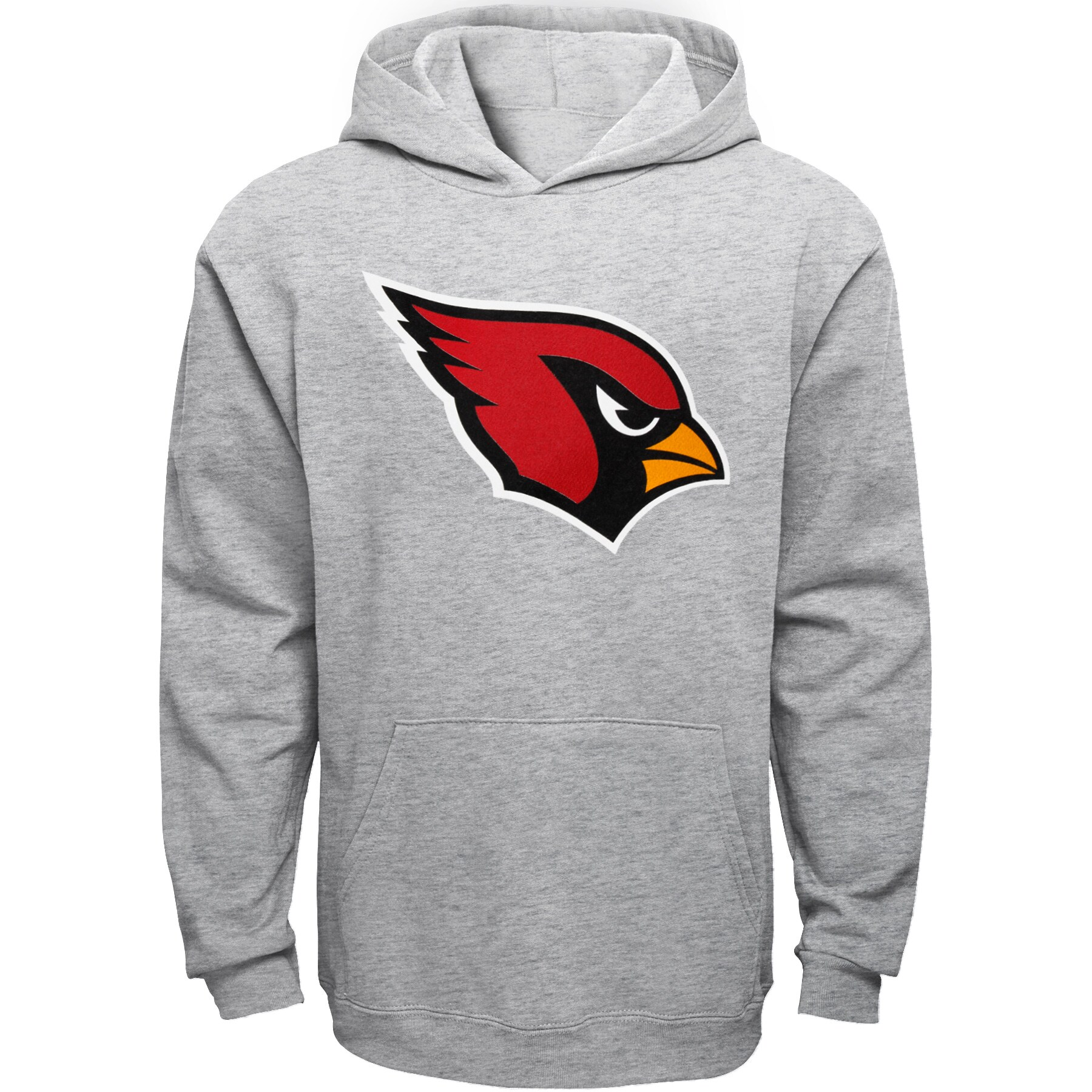 Arizona Cardinals Youth Current Logo Pullover Hoodie - Gray