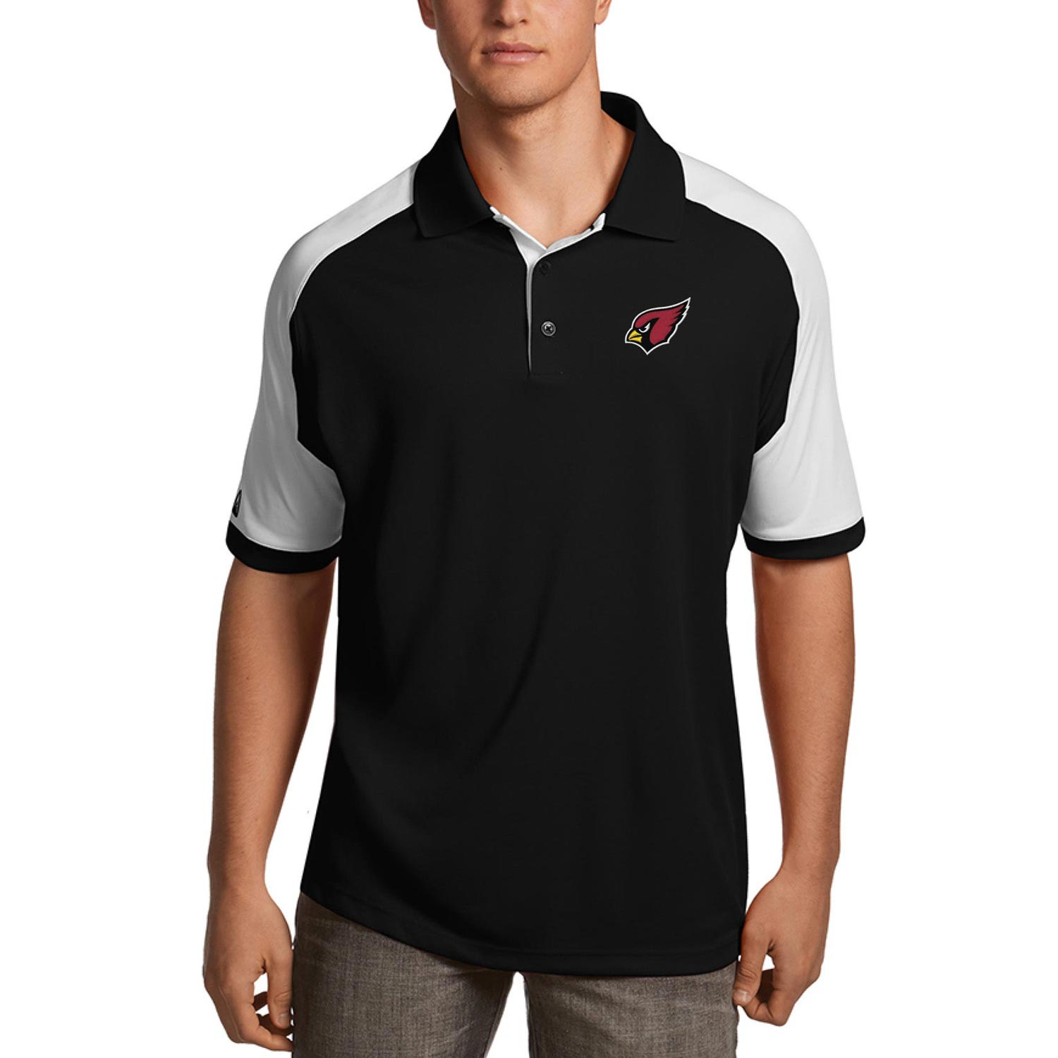Arizona Cardinals Antigua Century Polo - Black/White