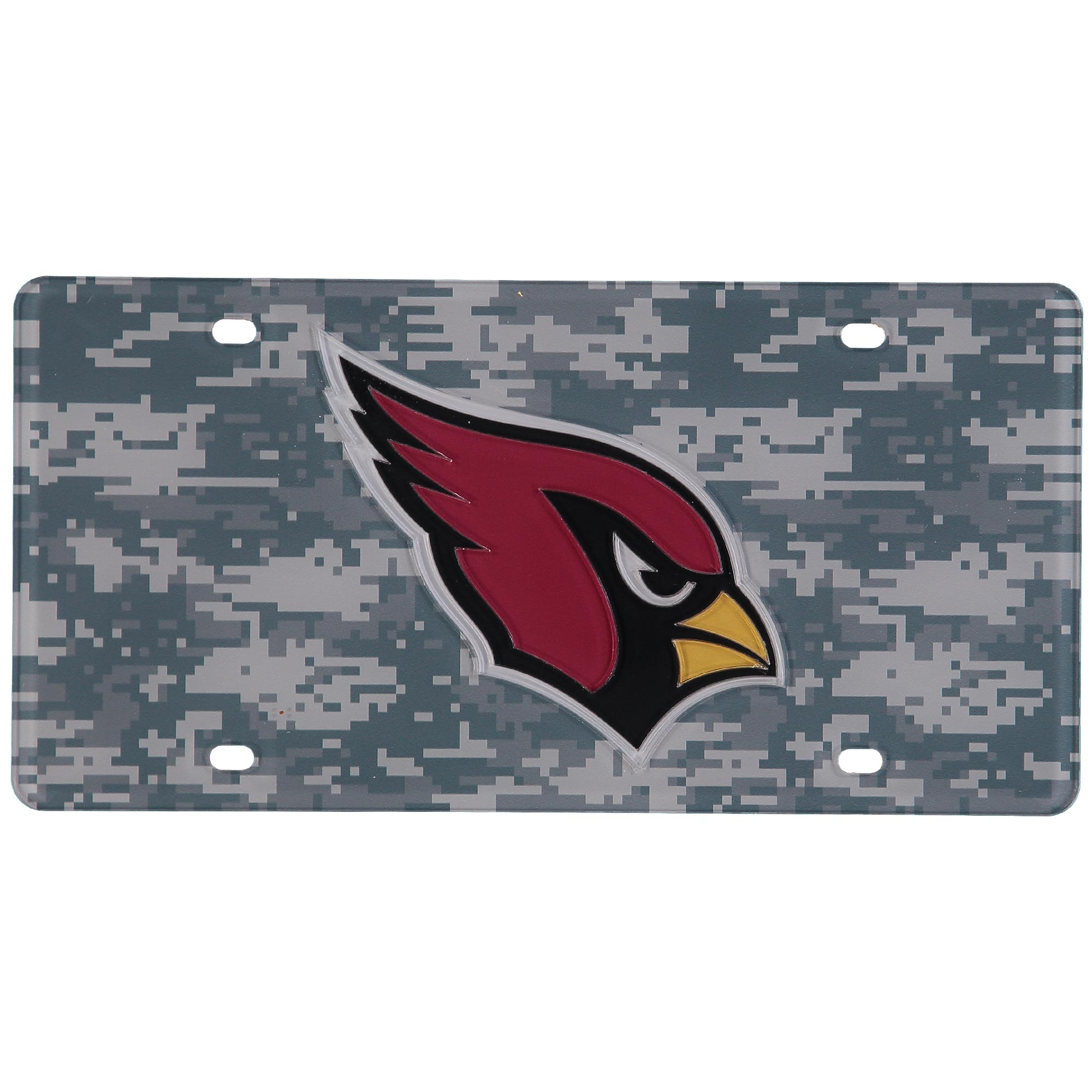 Arizona Cardinals Digi Camo Laser Cut License Plate