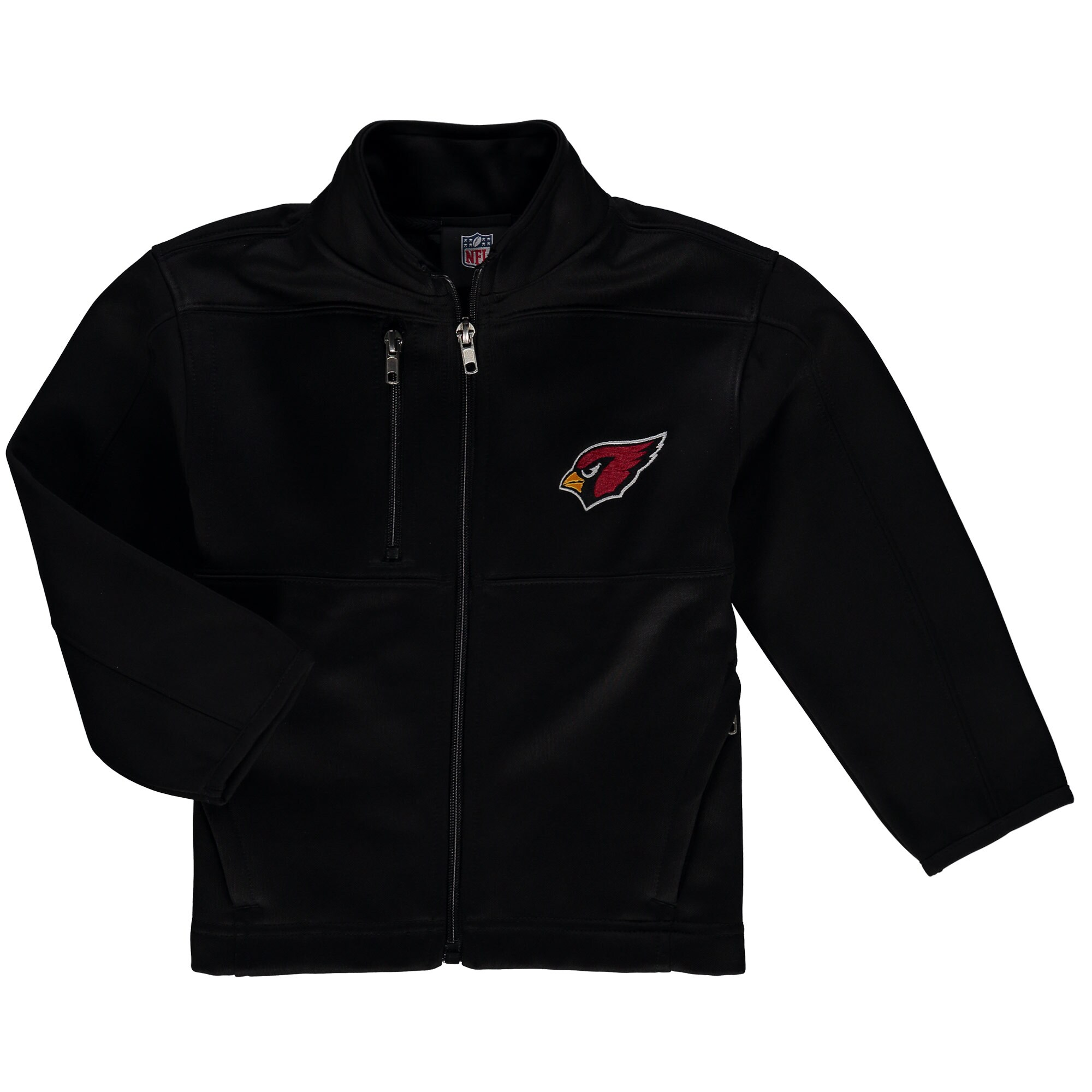 Arizona Cardinals Preschool Helix Bonded Full-Zip Jacket - Black