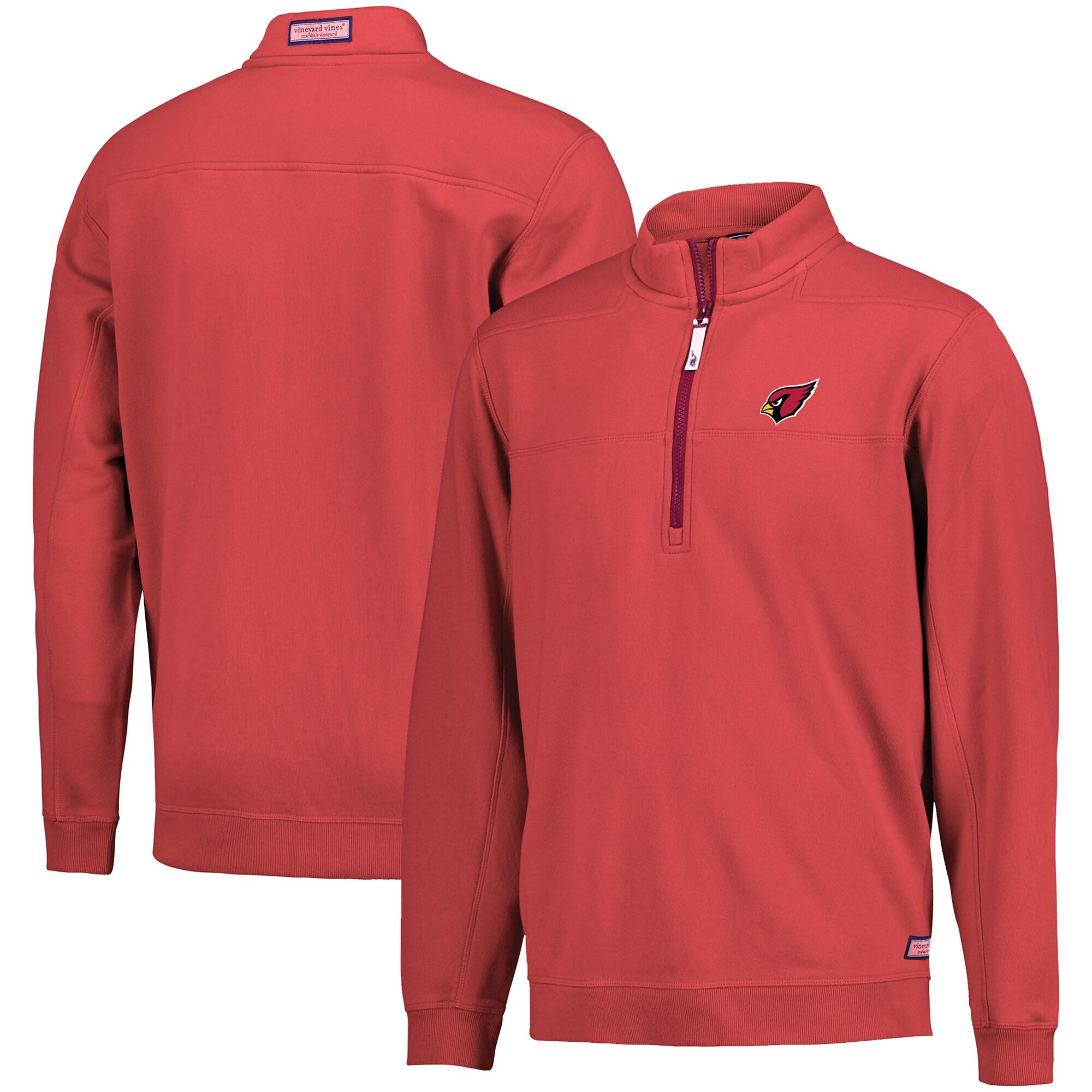Arizona Cardinals Vineyard Vines Collegiate Shep Shirt Quarter-Zip Pullover Jacket - Cardinal