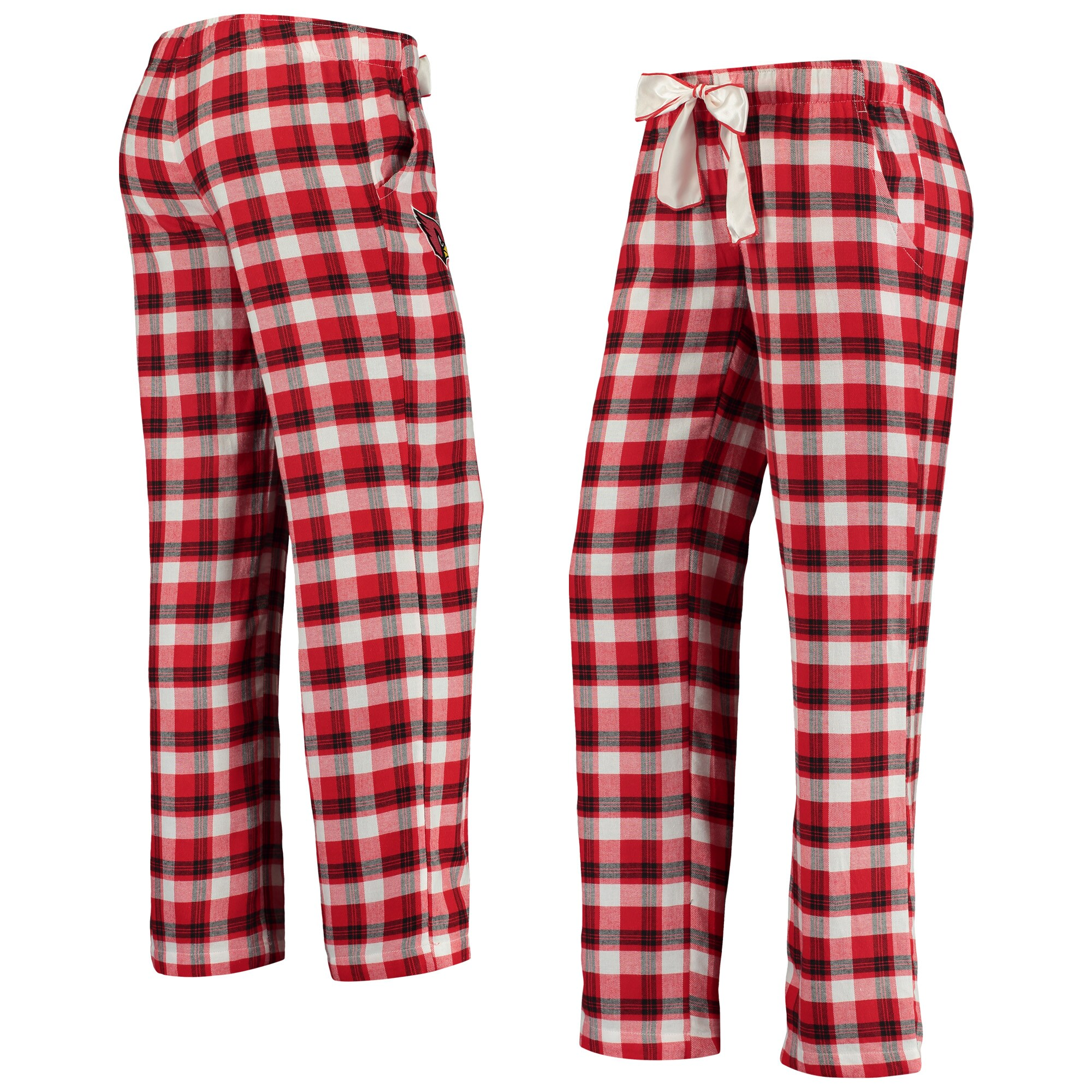 Arizona Cardinals Concepts Sport Women's Piedmont Flannel Sleep Pants - Cardinal/Black