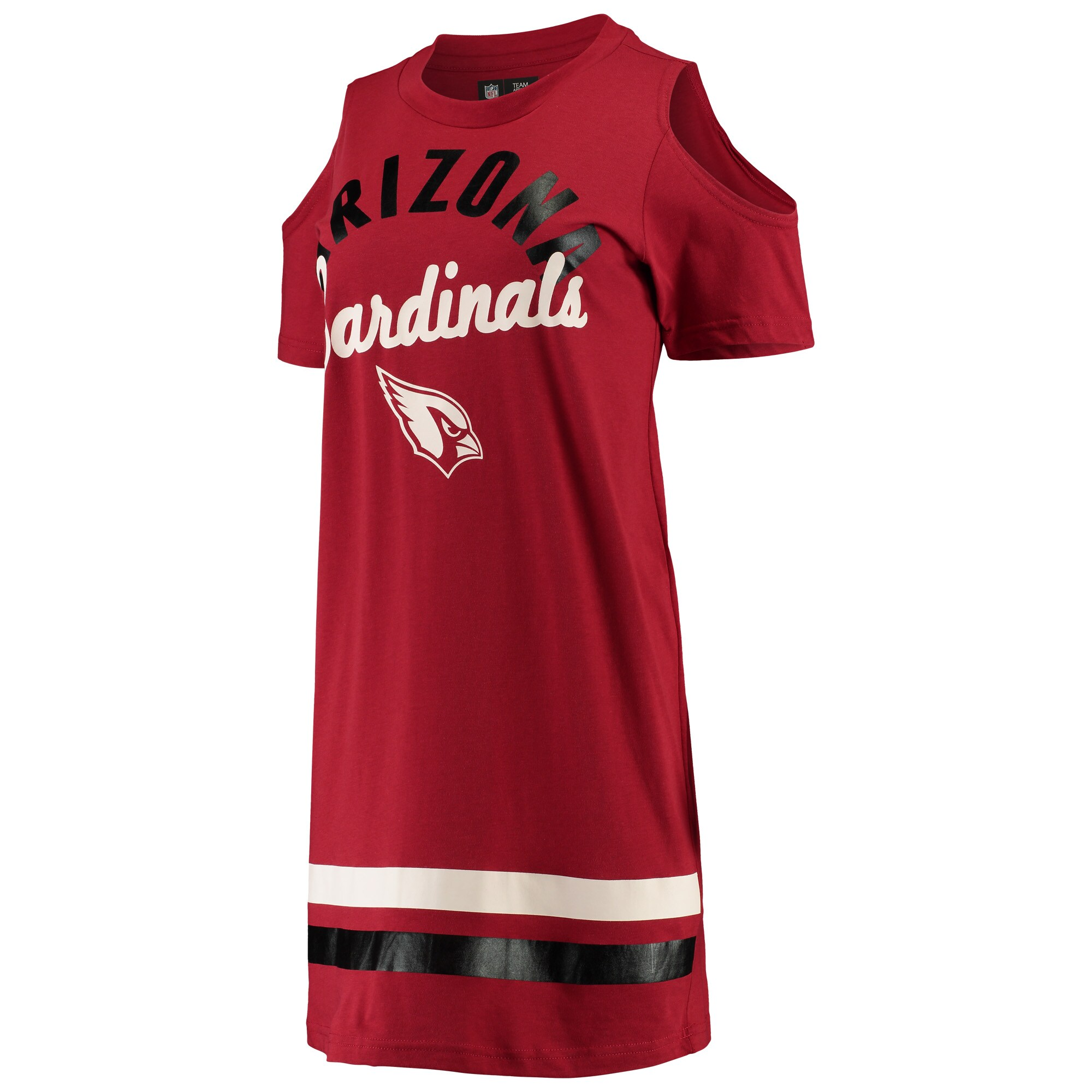 Arizona Cardinals G-III 4Her by Carl Banks Women's Go Get Em Tri-Blend Cold Shoulder Mini-Dress - Cardinal