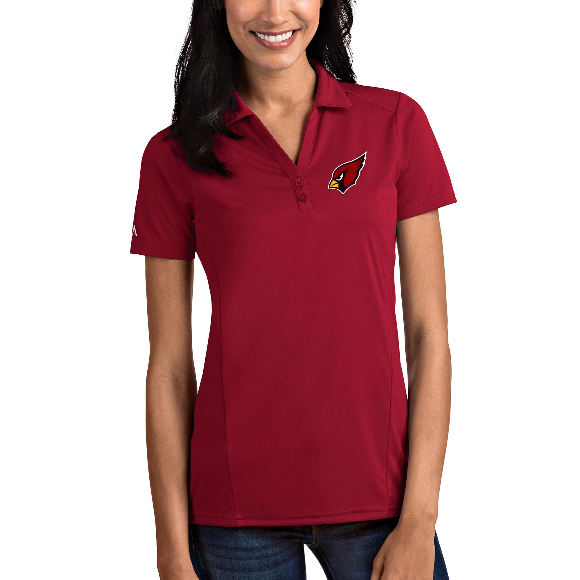 Arizona Cardinals Antigua Women's Tribute Polo - Cardinal