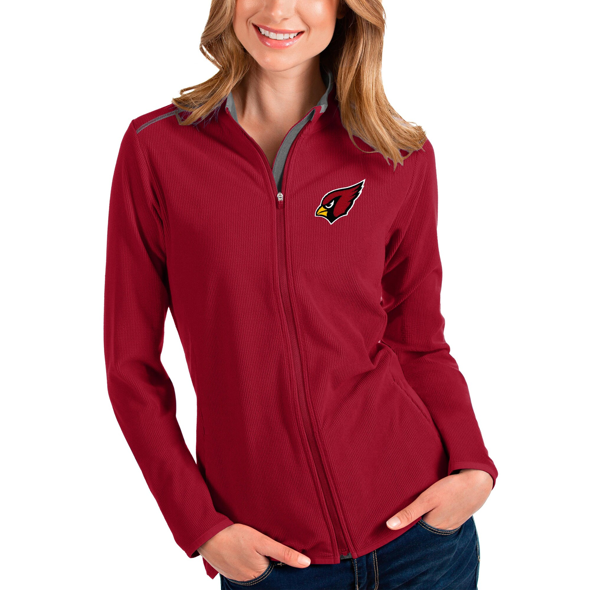 Arizona Cardinals Antigua Women's Glacier Full-Zip Jacket - Cardinal