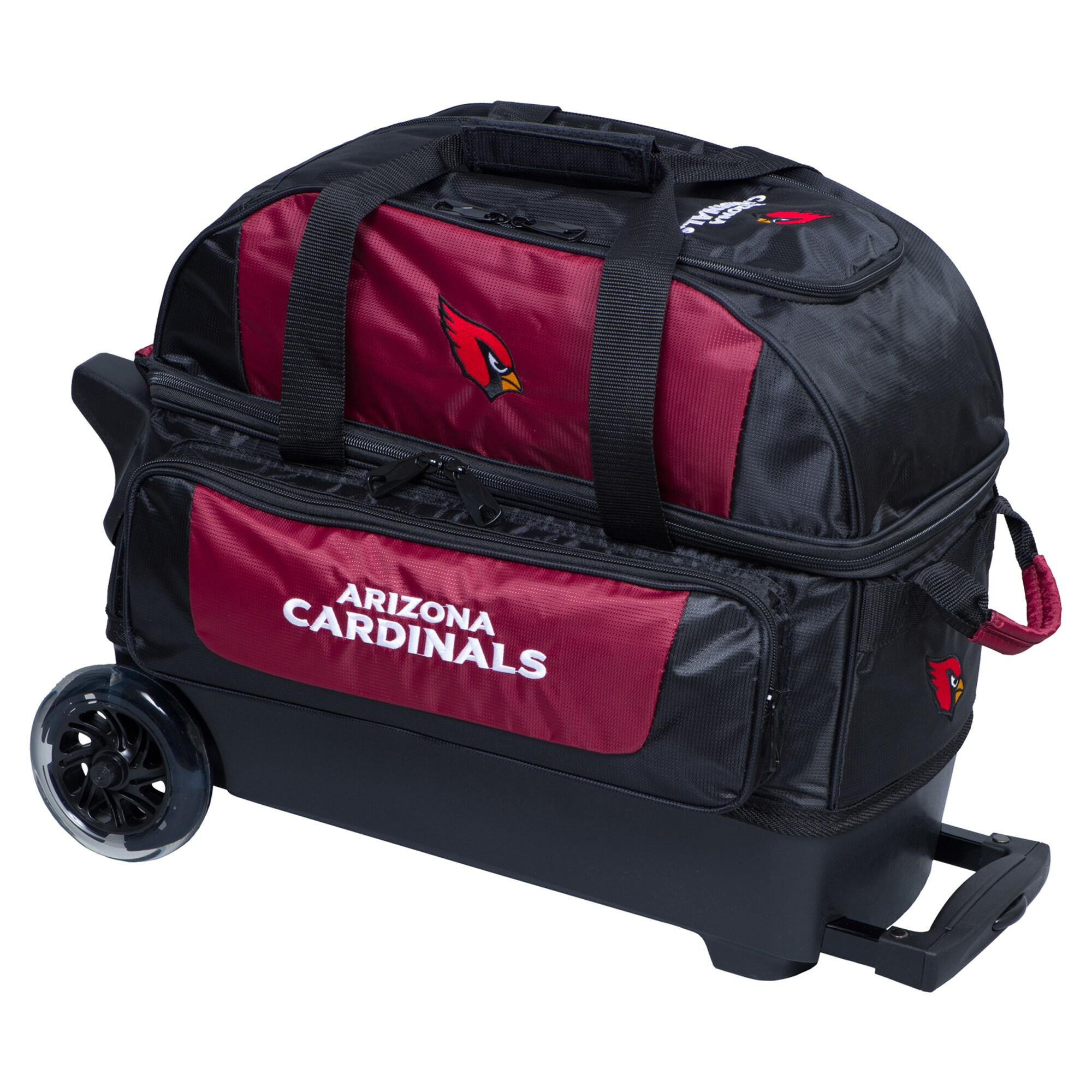 Arizona Cardinals Two-Ball Roller Bowling Bag - Cardinal