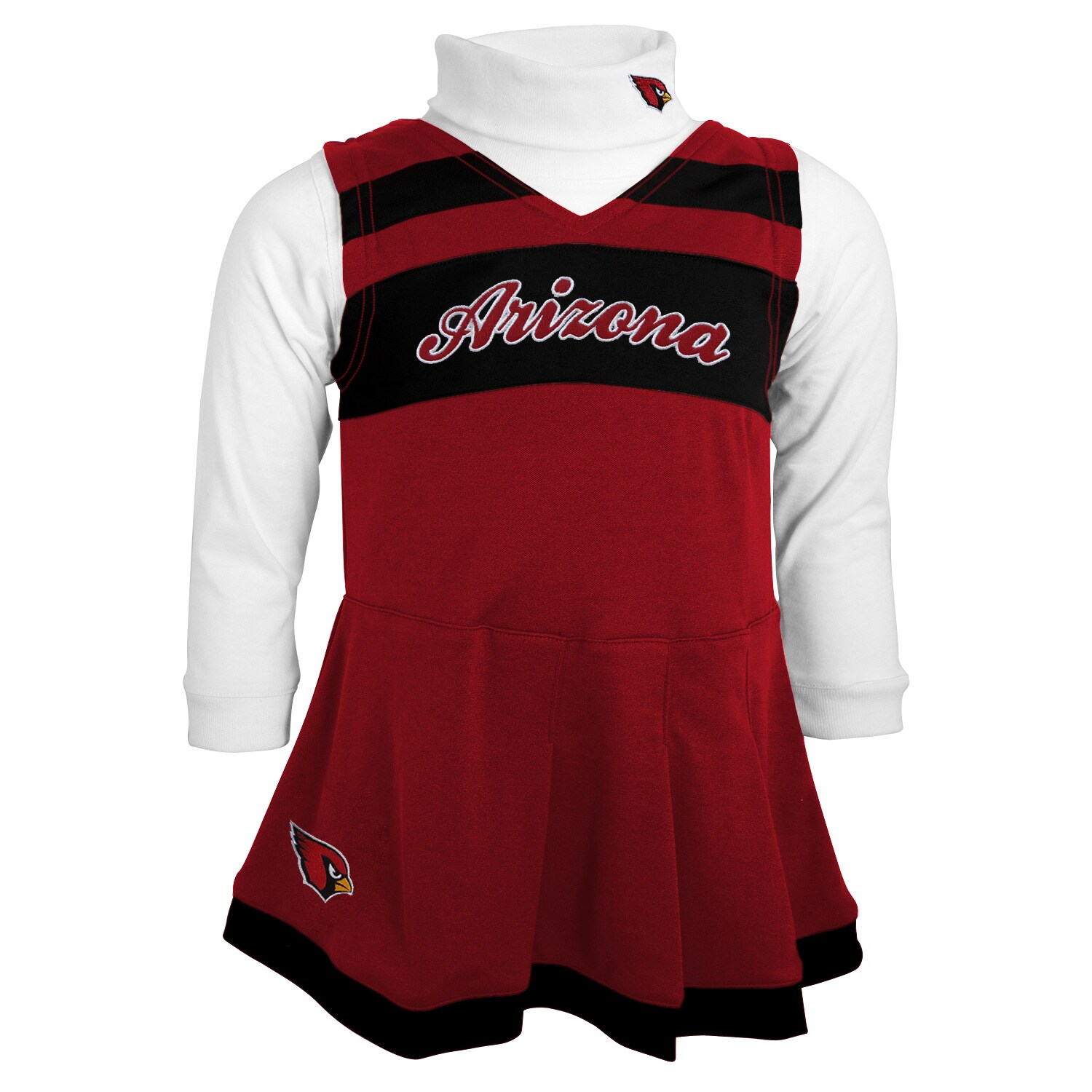 Arizona Cardinals Girls Toddler Cheer Jumper - Cardinal