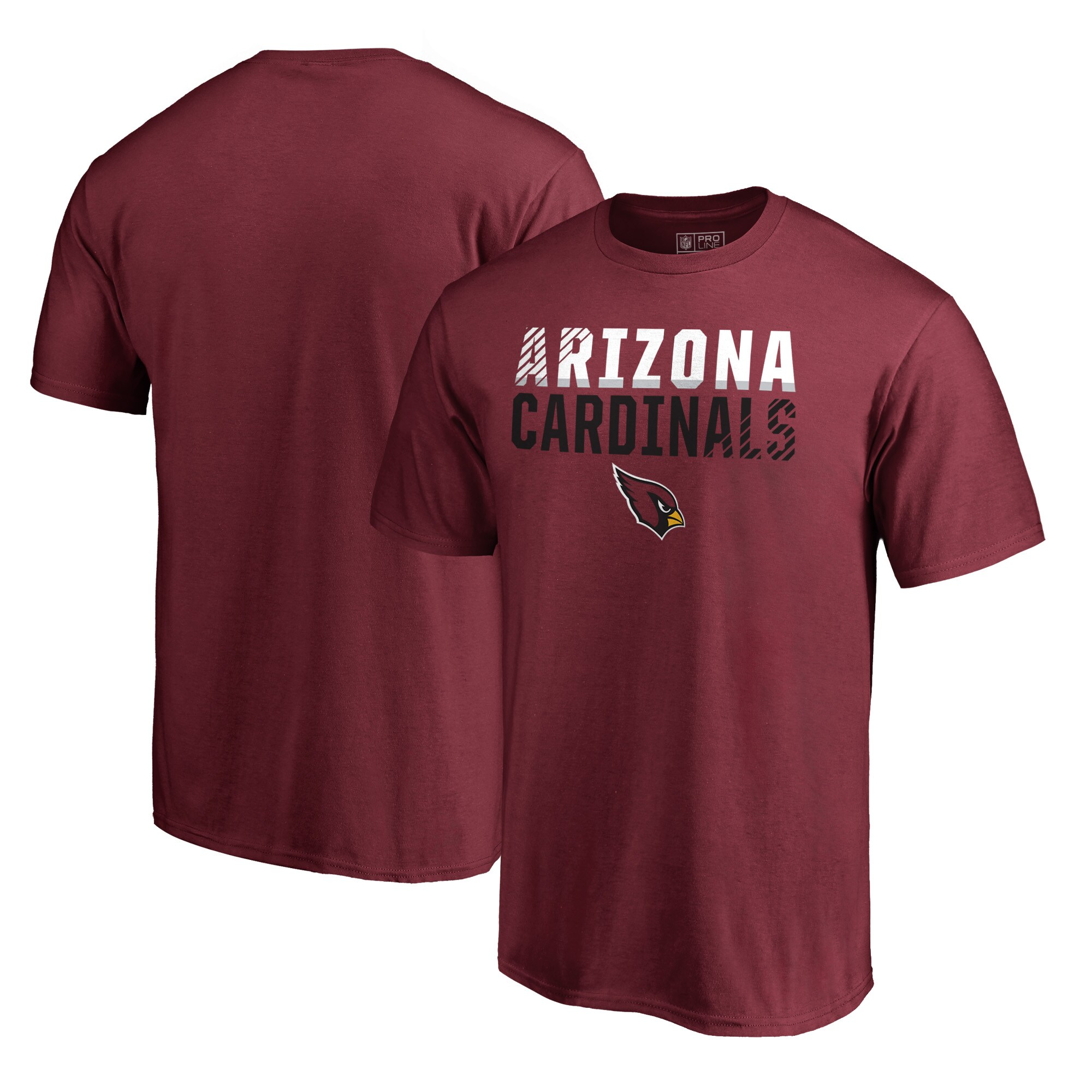 Arizona Cardinals NFL Pro Line by Fanatics Branded Iconic Collection Fade Out T-Shirt - Cardinal