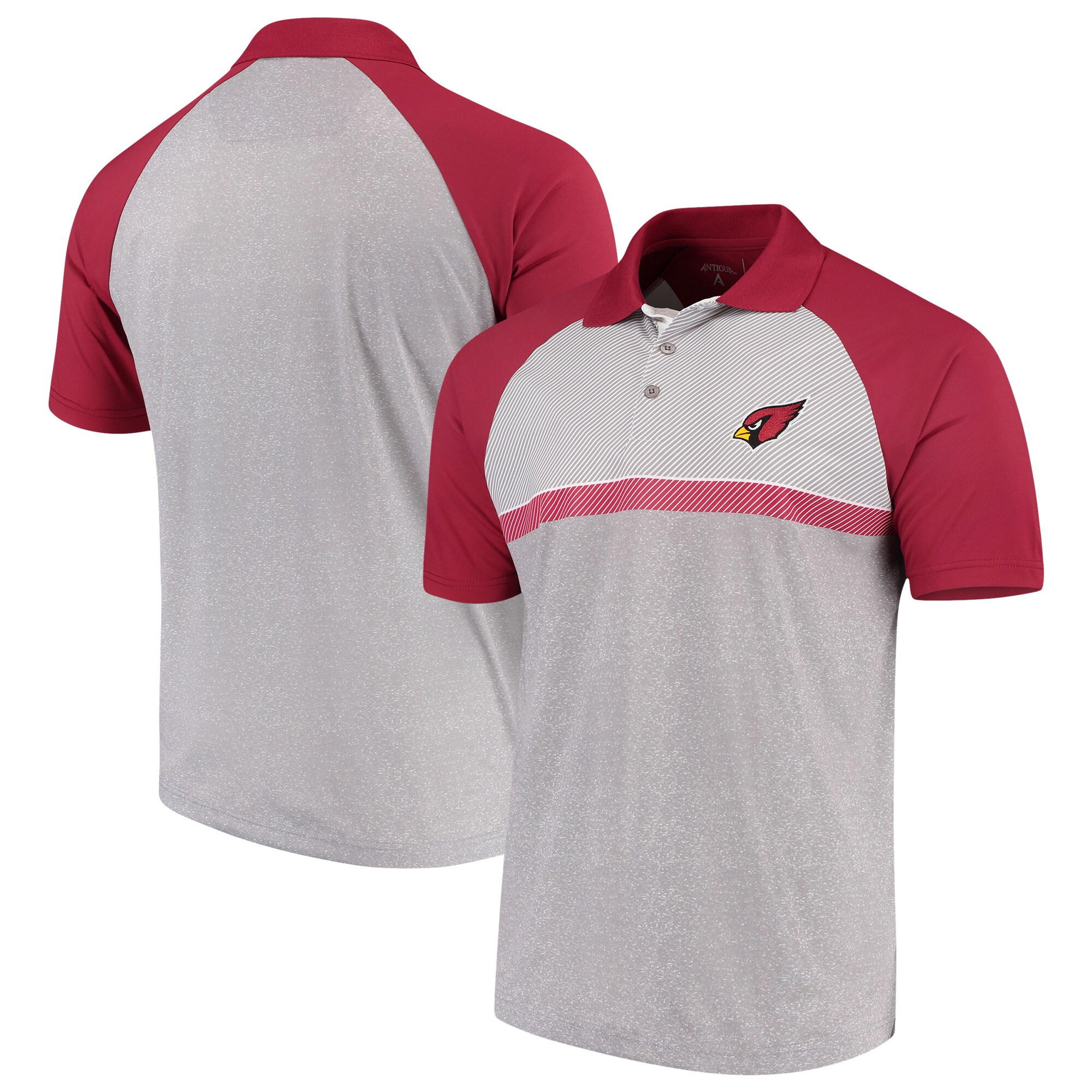 Arizona Cardinals Antigua Momentum Polo - Gray/Cardinal
