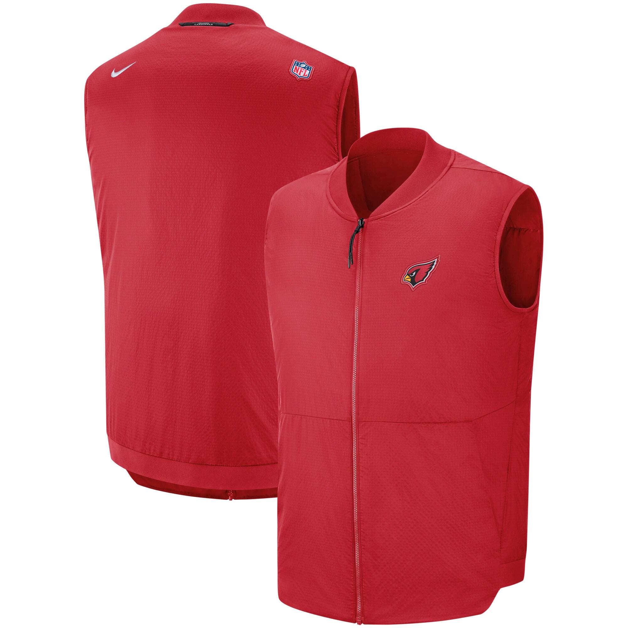 Arizona Cardinals Nike Sideline Full-Zip Vest - Cardinal