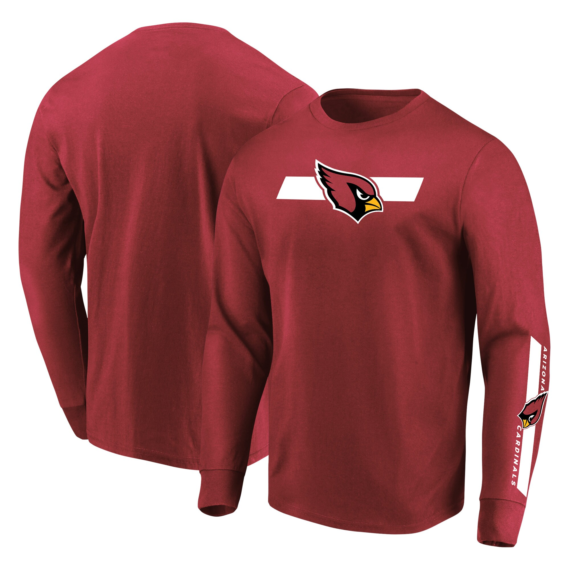 Arizona Cardinals Majestic Big & Tall Dual Threat Long Sleeve T-Shirt - Cardinal