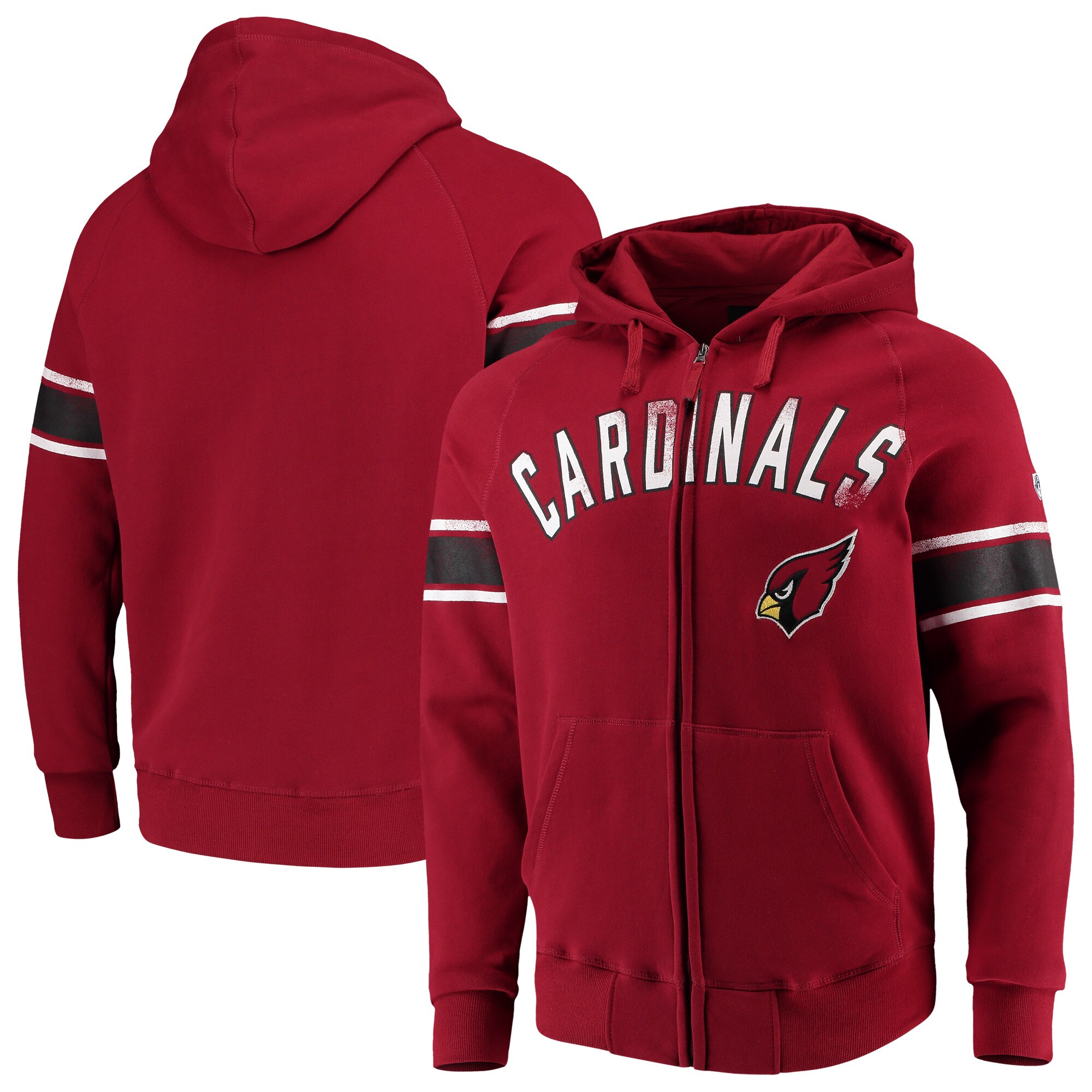 Arizona Cardinals Hands High Arena Full-Zip Hoodie - Cardinal