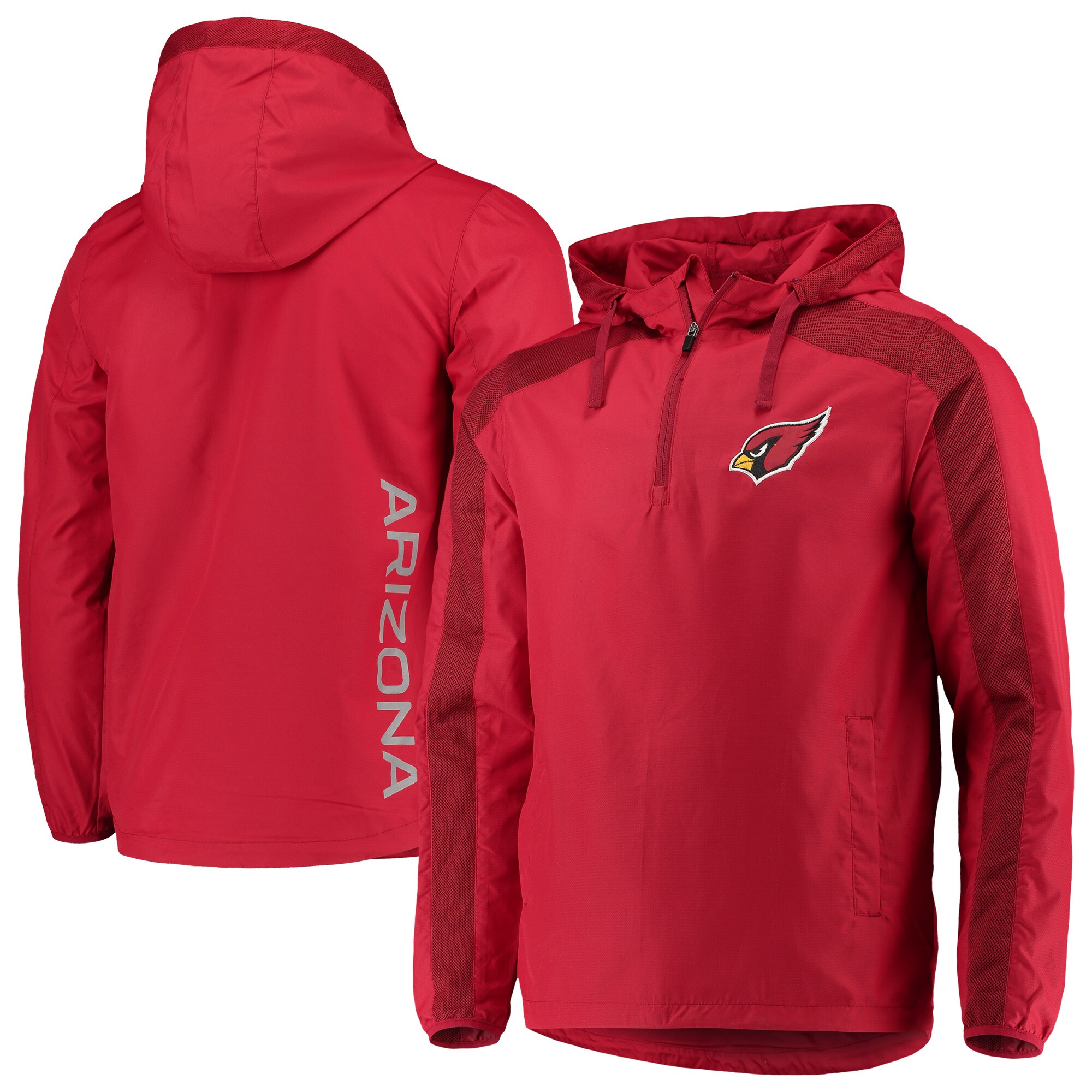 Arizona Cardinals G-III Sports by Carl Banks Lineup Hooded Half-Zip Jacket - Cardinal