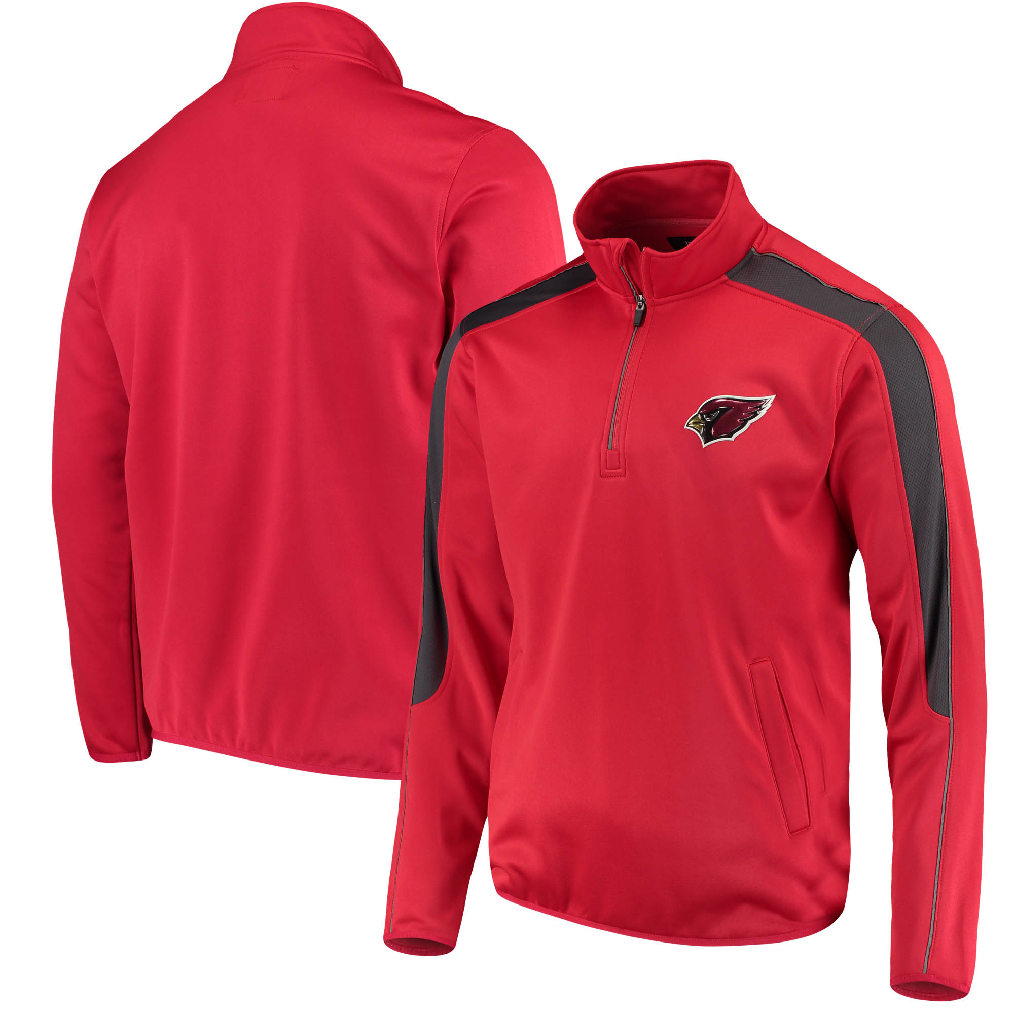 Arizona Cardinals G-III Sports by Carl Banks I Formation Quarter-Zip Pullover Jacket - Cardinal