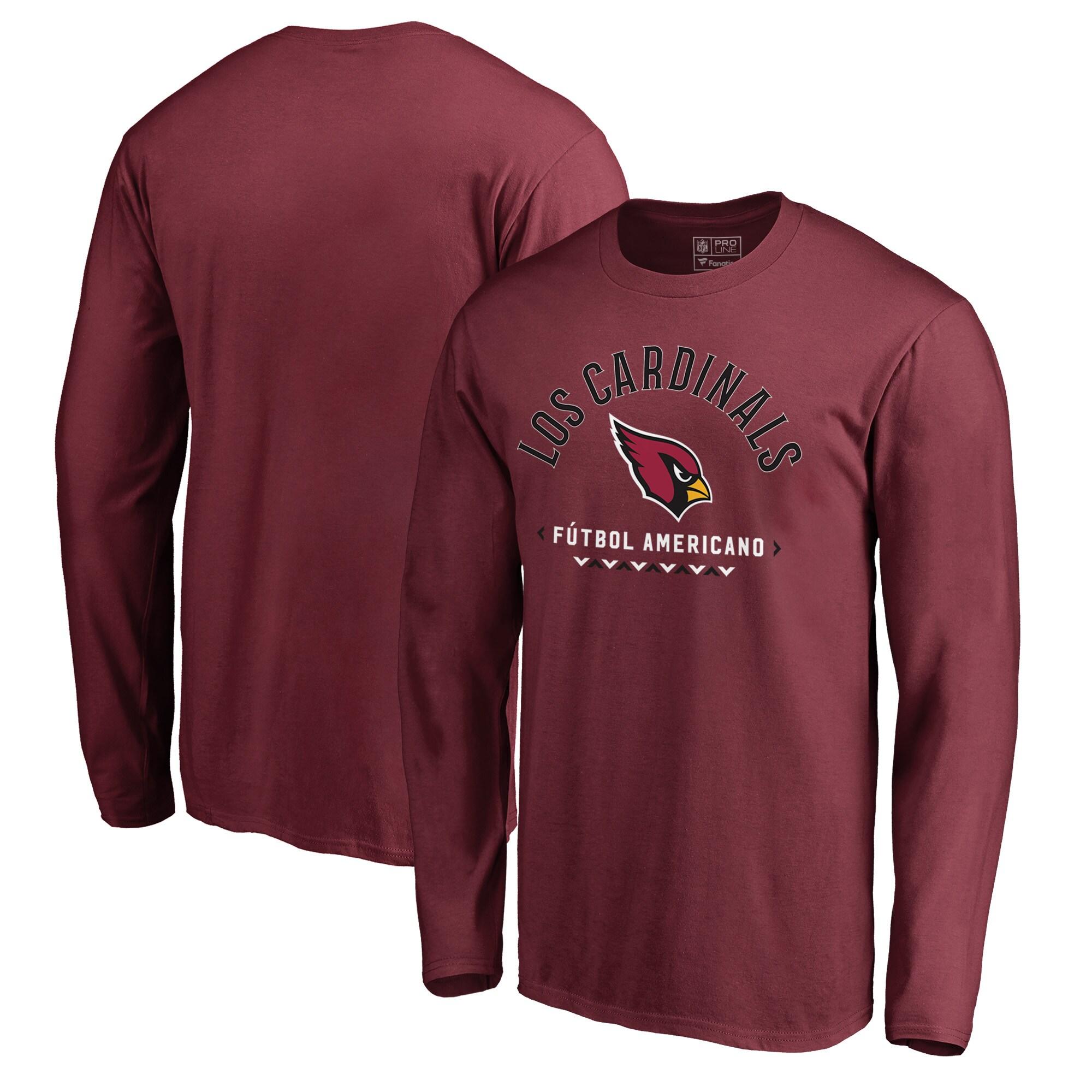 Arizona Cardinals NFL Pro Line by Fanatics Branded Futbol Americano Long Sleeve T-Shirt - Cardinal